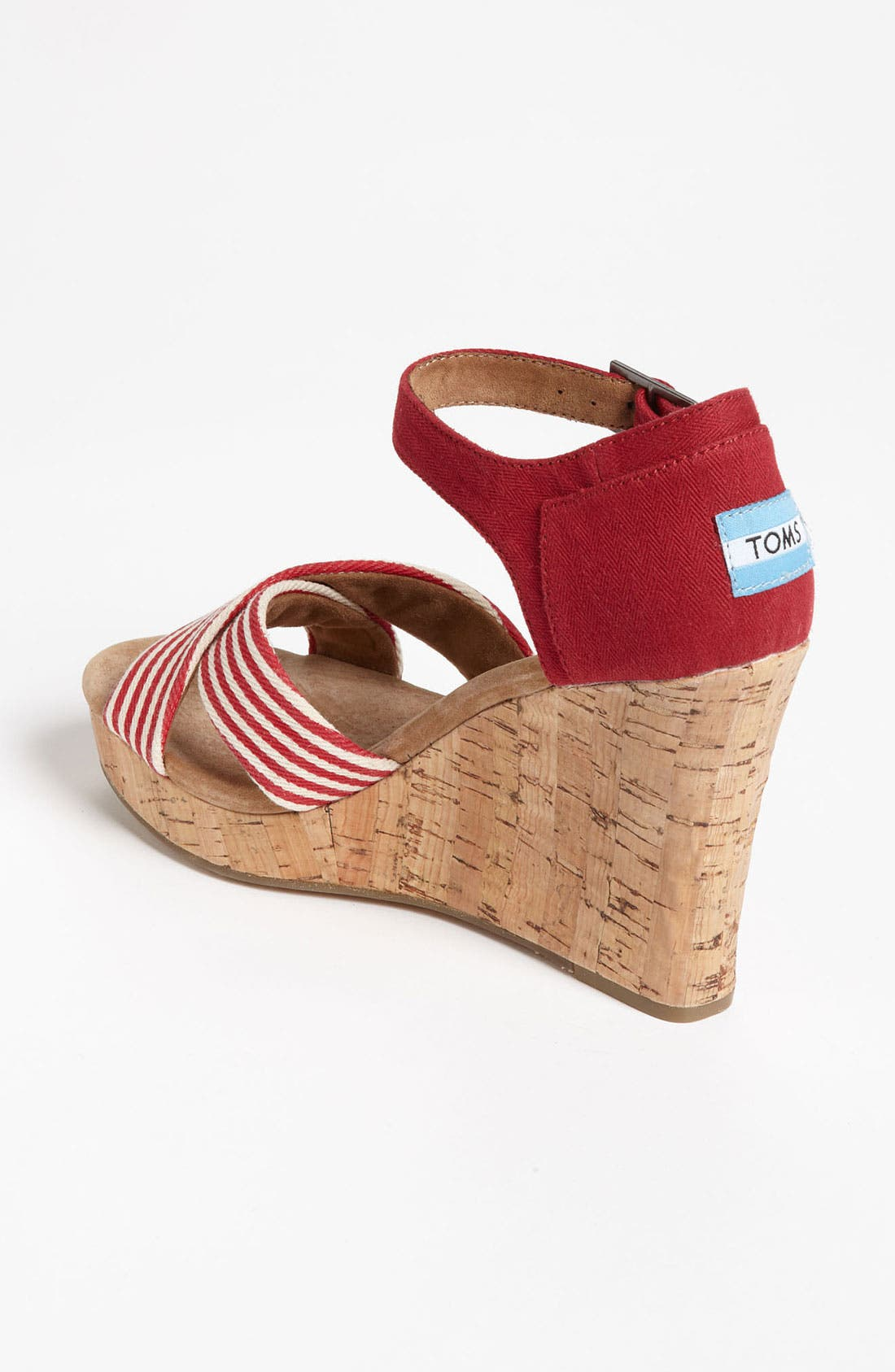 Alternate Image 2  - TOMS 'University Stripe' Wedge Sandal