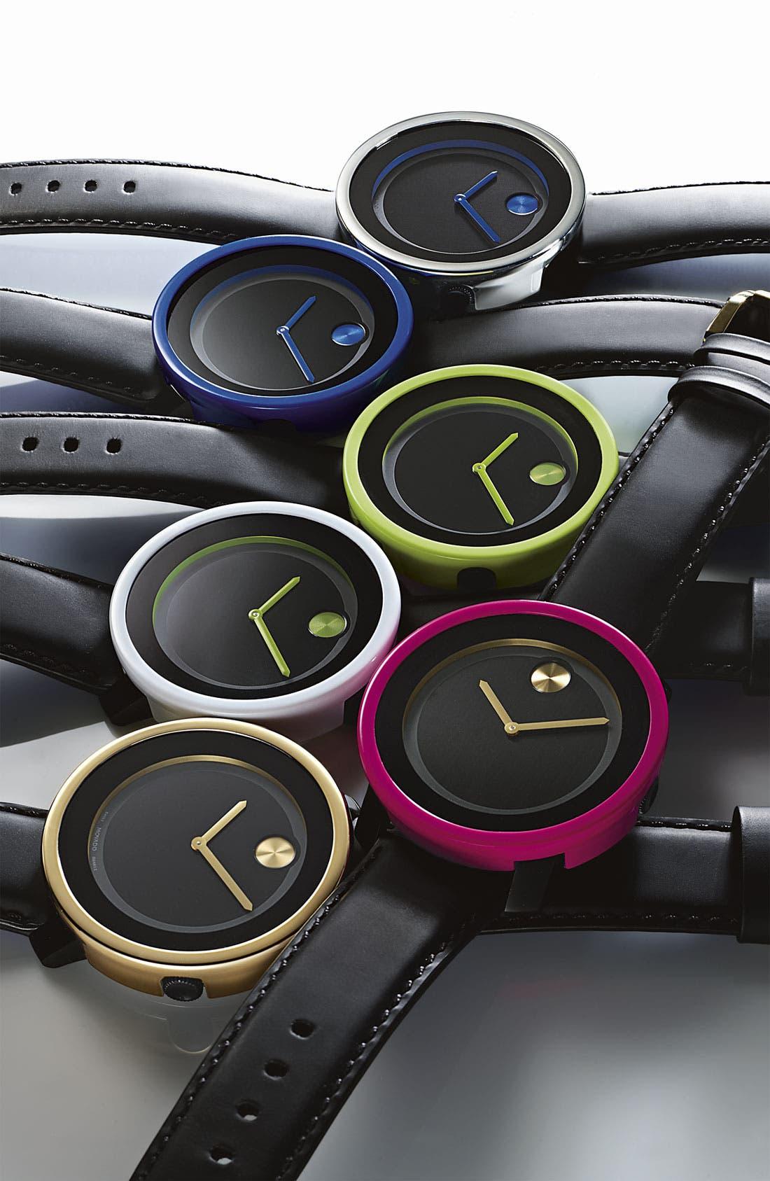 Alternate Image 2  - Movado 'Large Bold' Metallic Marker Watch, 42mm (Regular Retail Price: $395.00)