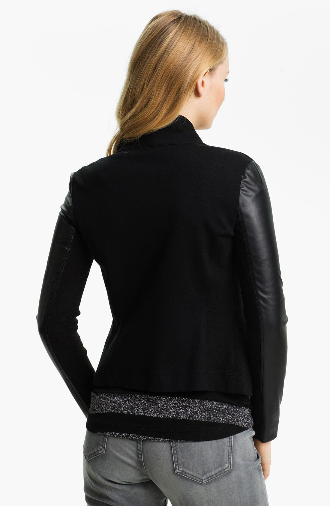 Alternate Image 2  - Two by Vince Camuto Mix Media Jacket