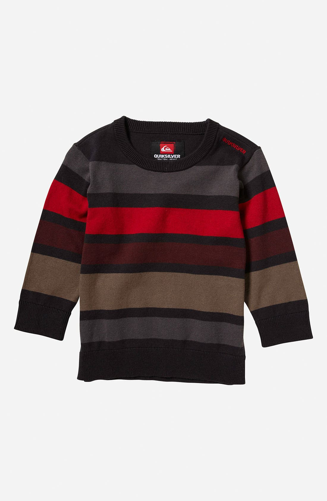 Main Image - Quiksilver 'Casting' Stripe Sweater (Toddler)