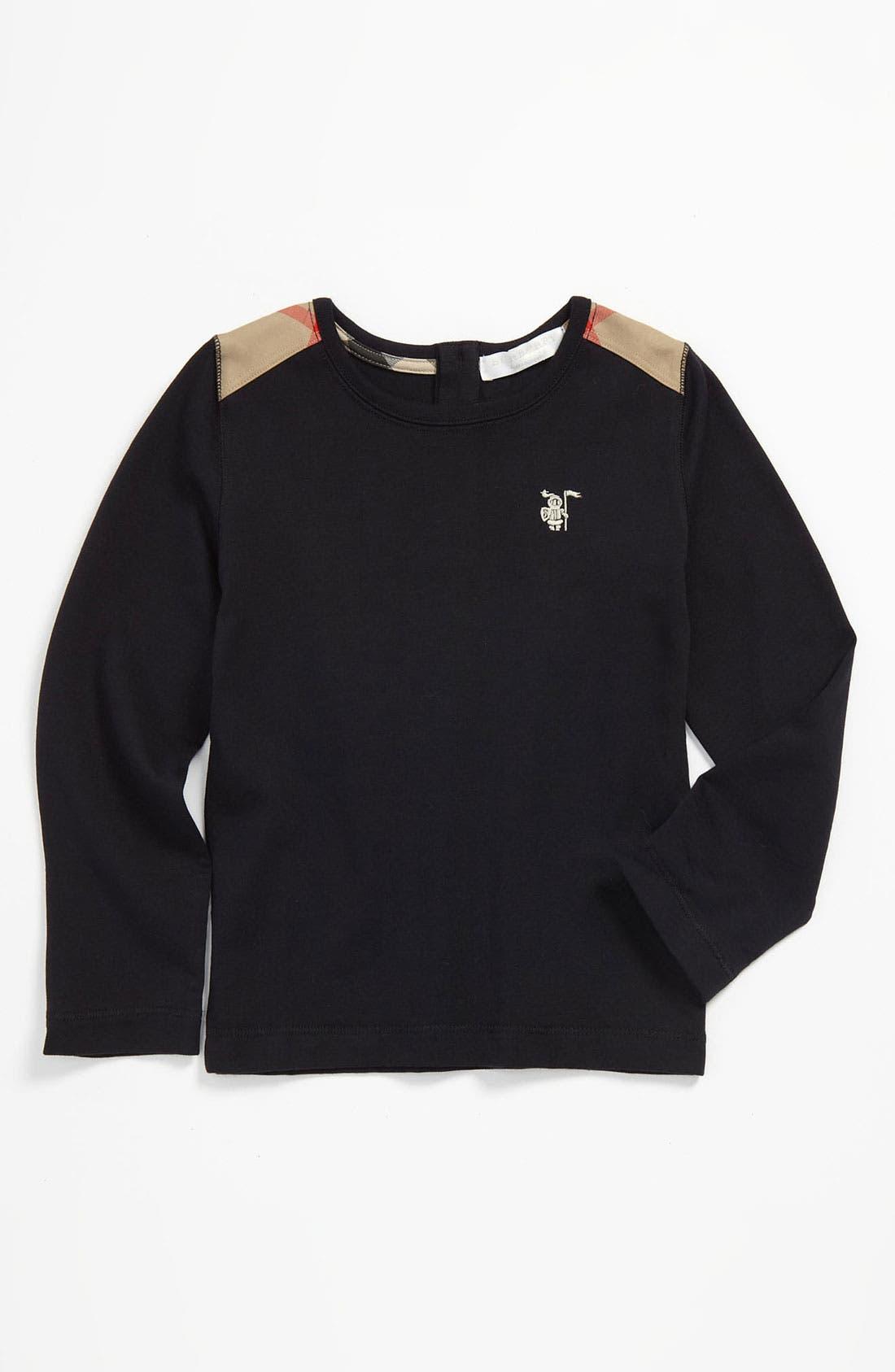 Main Image - Burberry Shoulder Patch T-Shirt (Infant)
