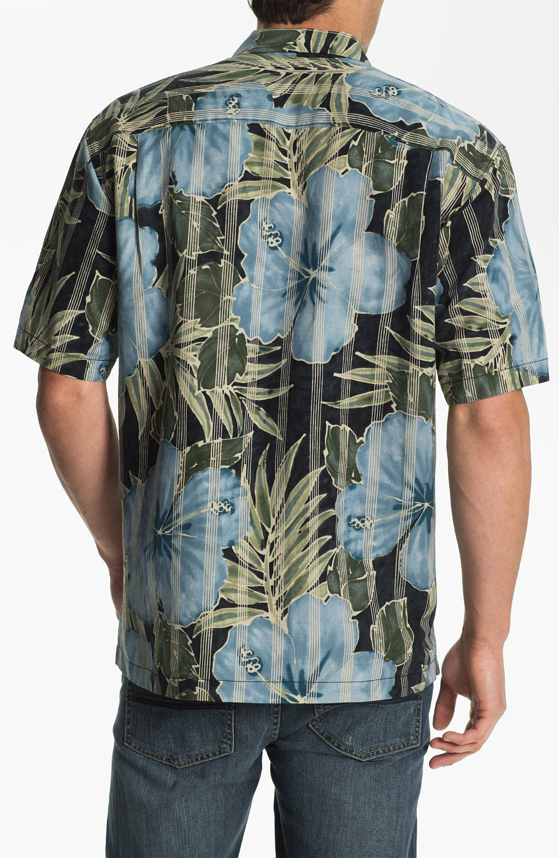 Alternate Image 2  - Tommy Bahama 'Garden of Hope Courage' Linen & Silk Campshirt