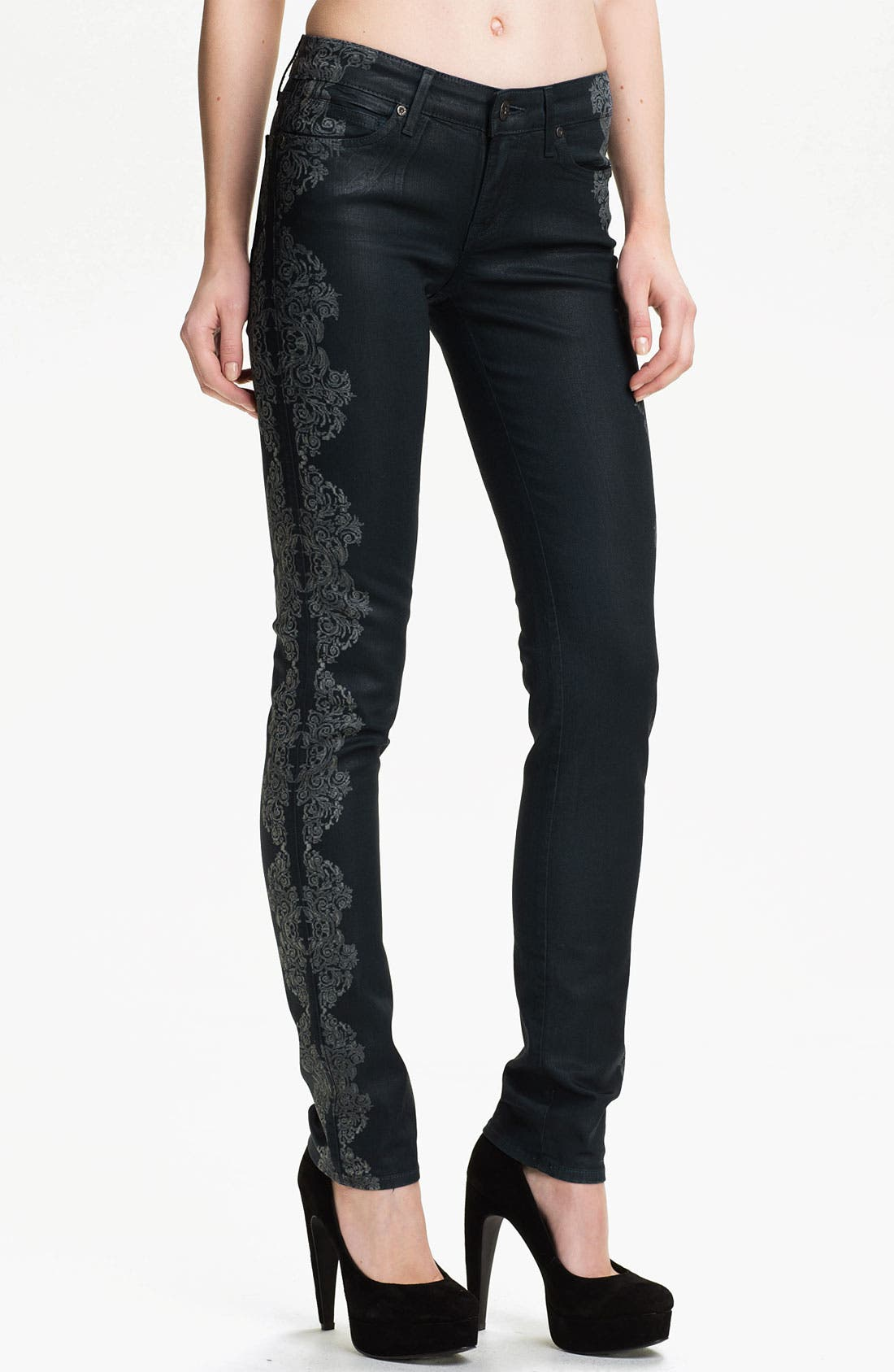 Main Image - Rich & Skinny 'Legacy' Coated Skinny Jeans (Temperance)