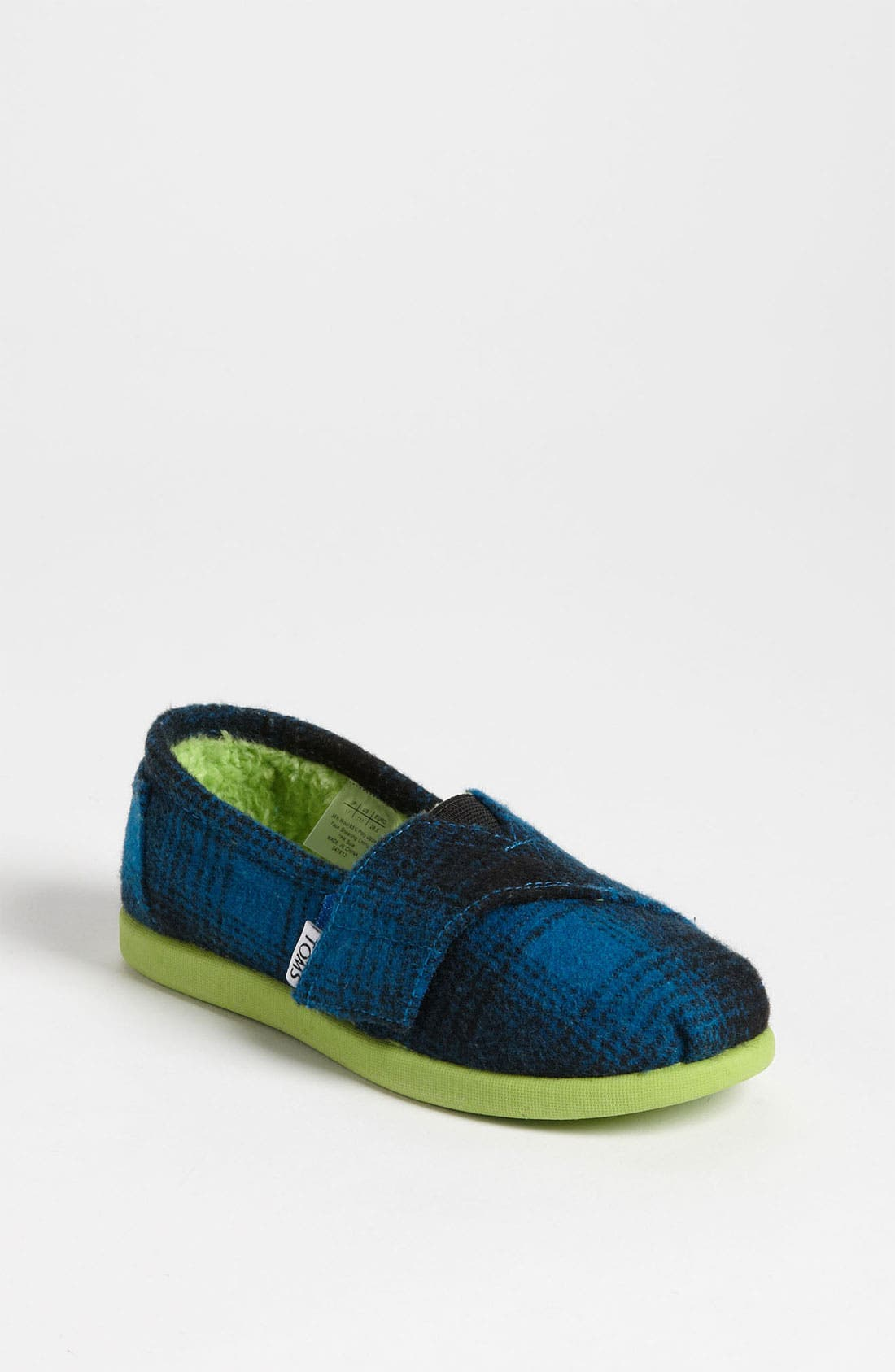 Alternate Image 1 Selected - TOMS 'Classic Tiny - Plaid Pop' Wool Slip-On (Baby, Walker & Toddler)