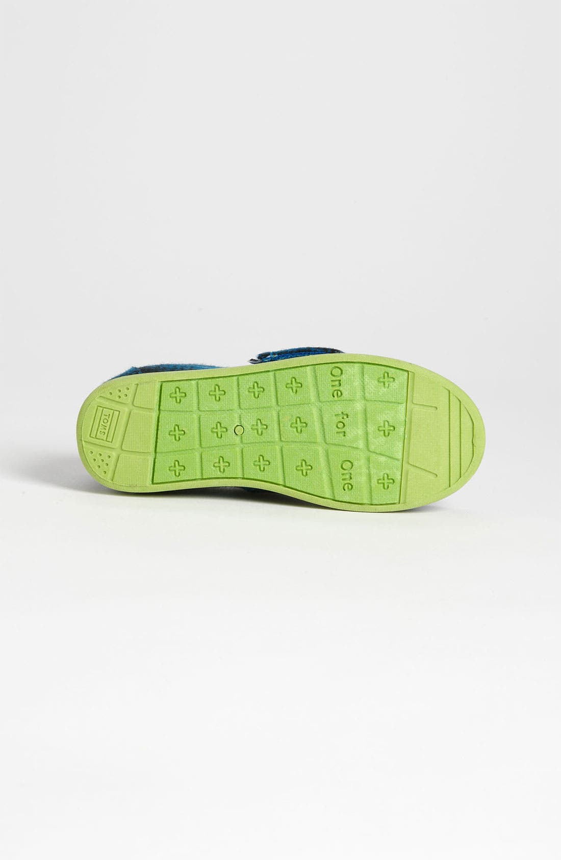 Alternate Image 4  - TOMS 'Classic Tiny - Plaid Pop' Wool Slip-On (Baby, Walker & Toddler)