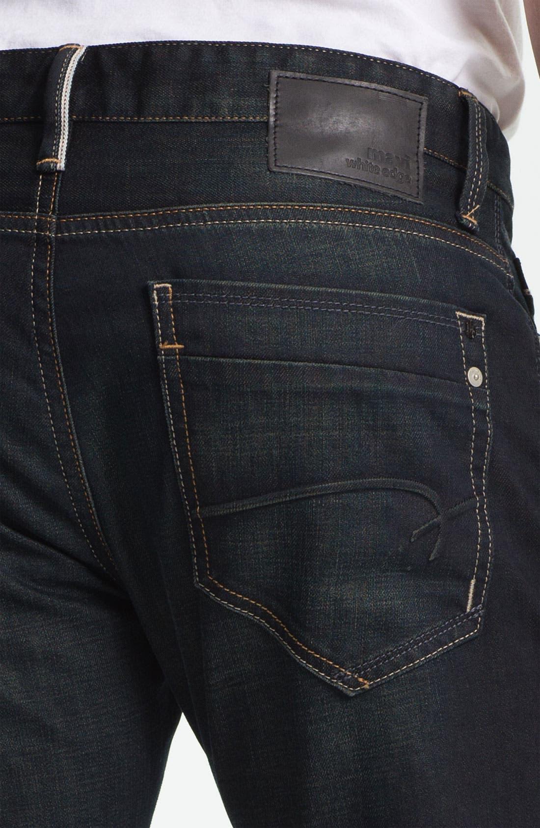 Alternate Image 4  - Mavi Jeans 'Zach' Straight Leg Jeans (Smoke White Edge)
