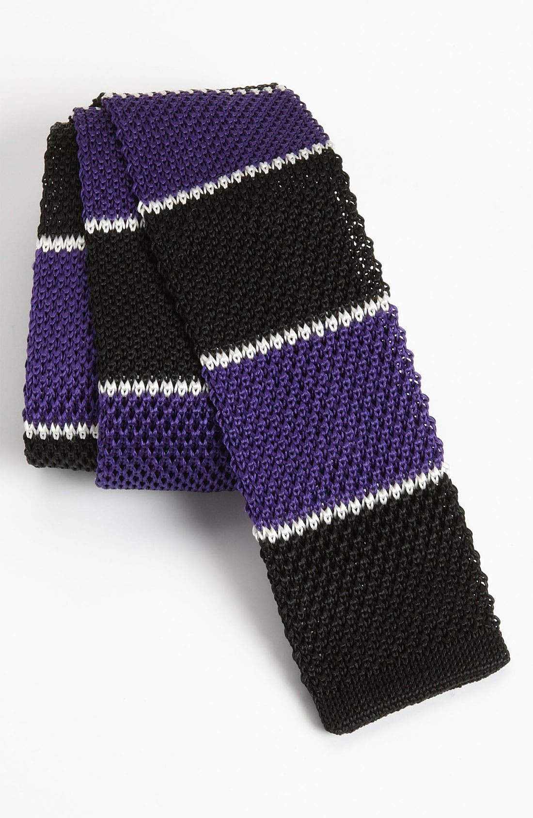 Main Image - The Tie Bar 'School Stripe' Knit Tie (Online Only)