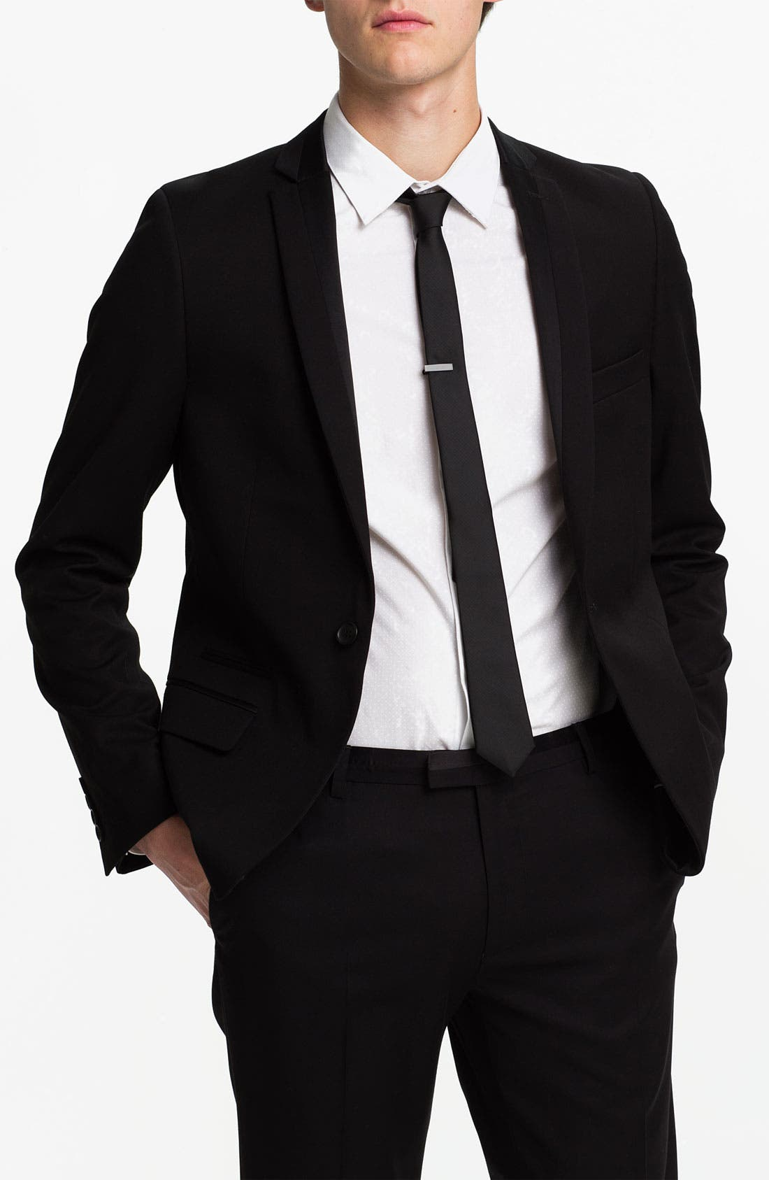 Alternate Image 1 Selected - Topman One Button Tuxedo Jacket