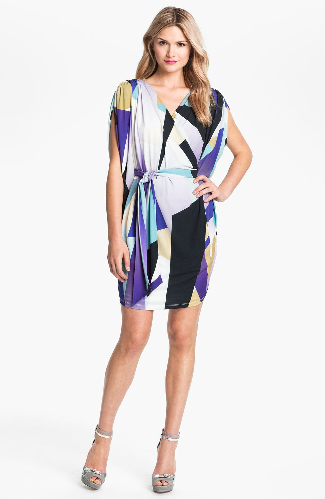 Alternate Image 1 Selected - Suzi Chin for Maggy Boutique Dolman Sleeve Print Dress