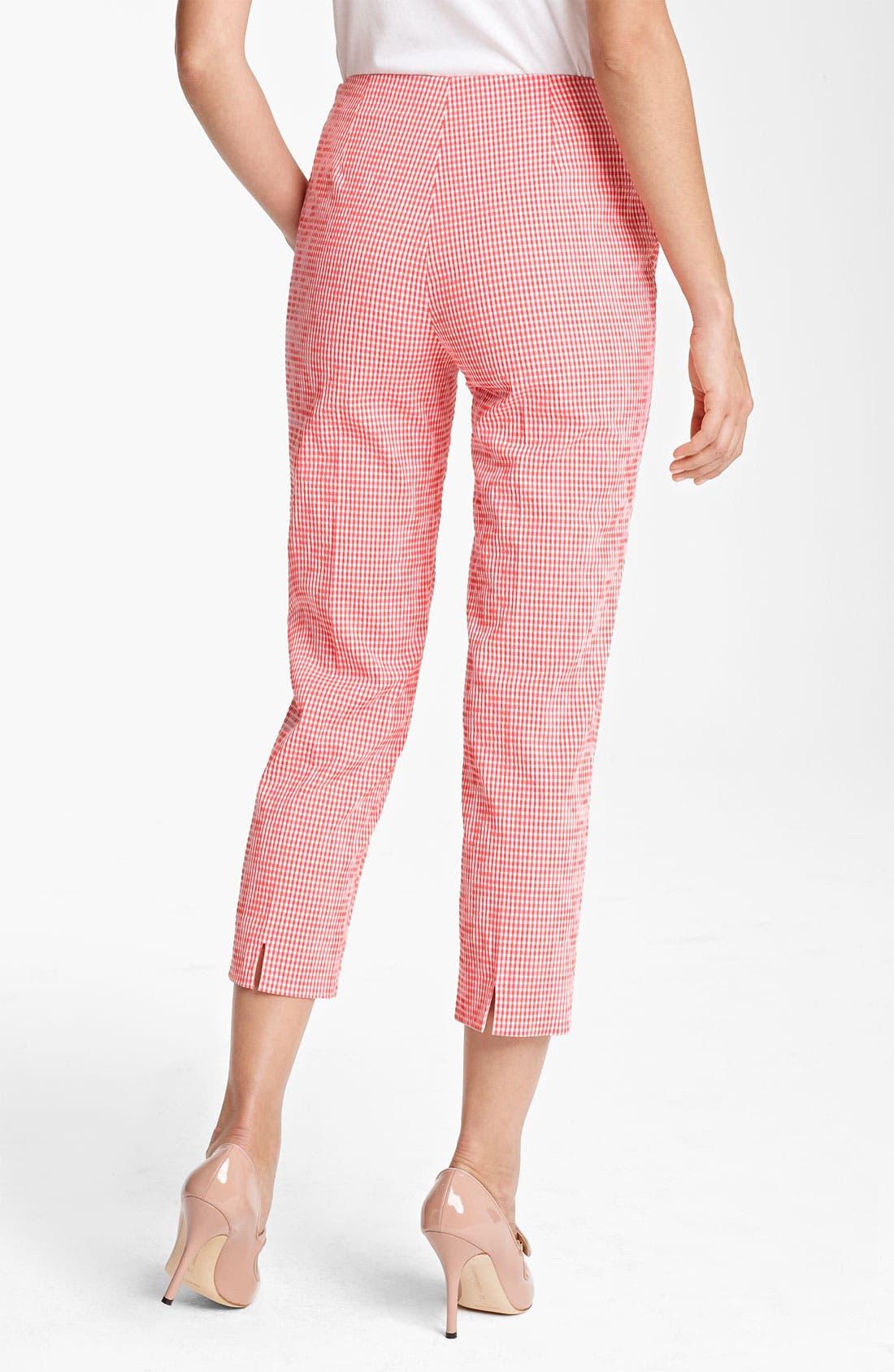 Alternate Image 2  - Piazza Sempione 'Audrey' Gingham Stretch Cotton Pants
