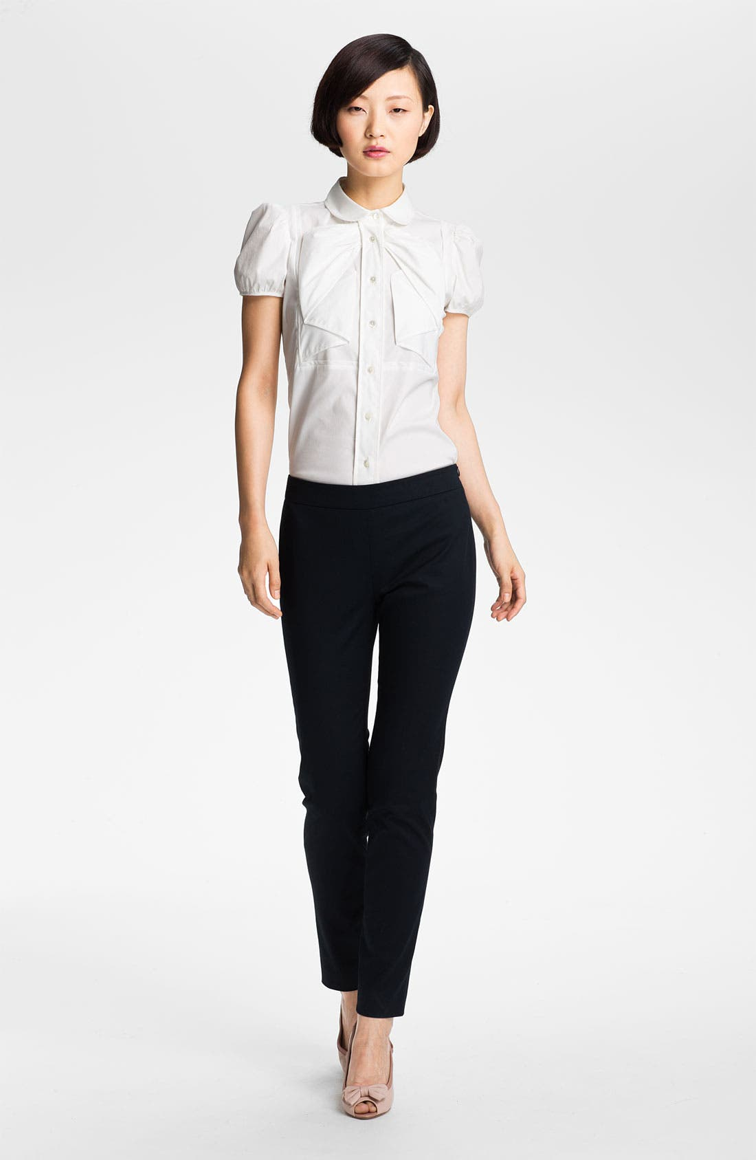 Main Image - RED Valentino Stretch Poplin Blouse