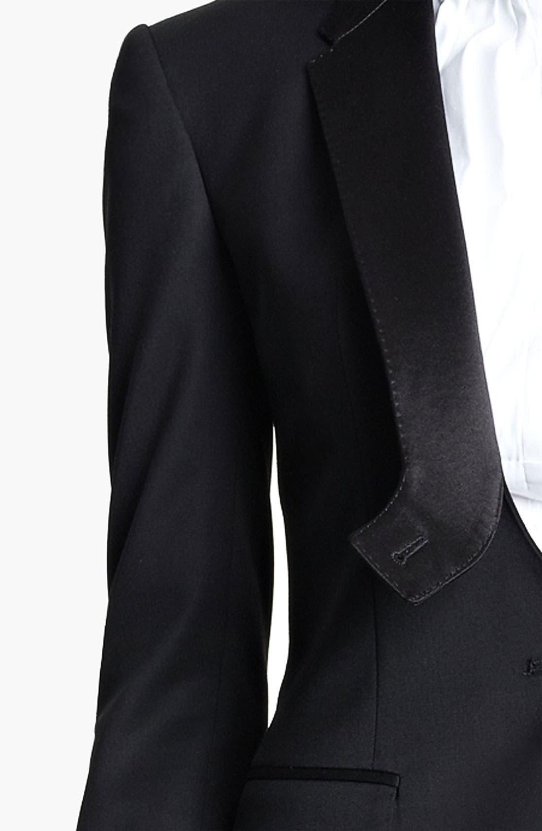 Alternate Image 5  - Burberry Prorsum Stretch Wool Tuxedo Jacket