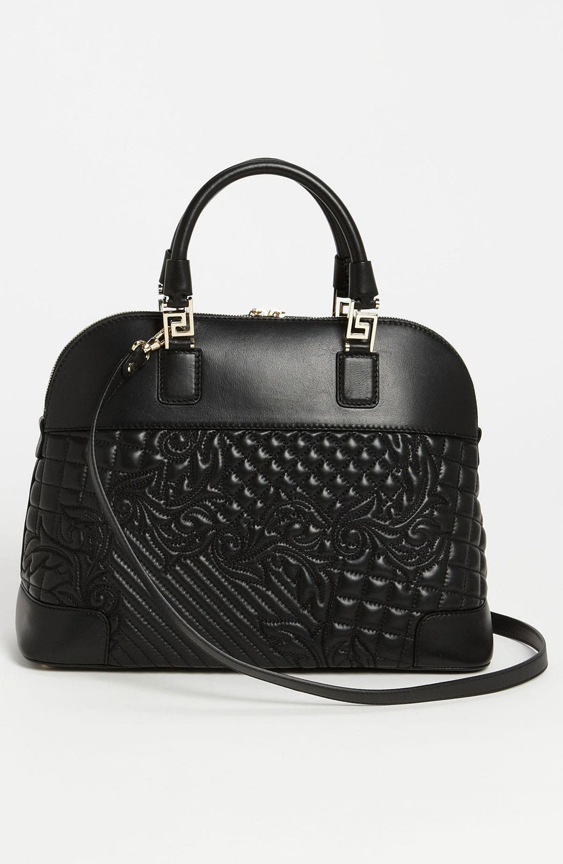 Alternate Image 4  - Versace 'Vanitas' Embroidered Leather Satchel