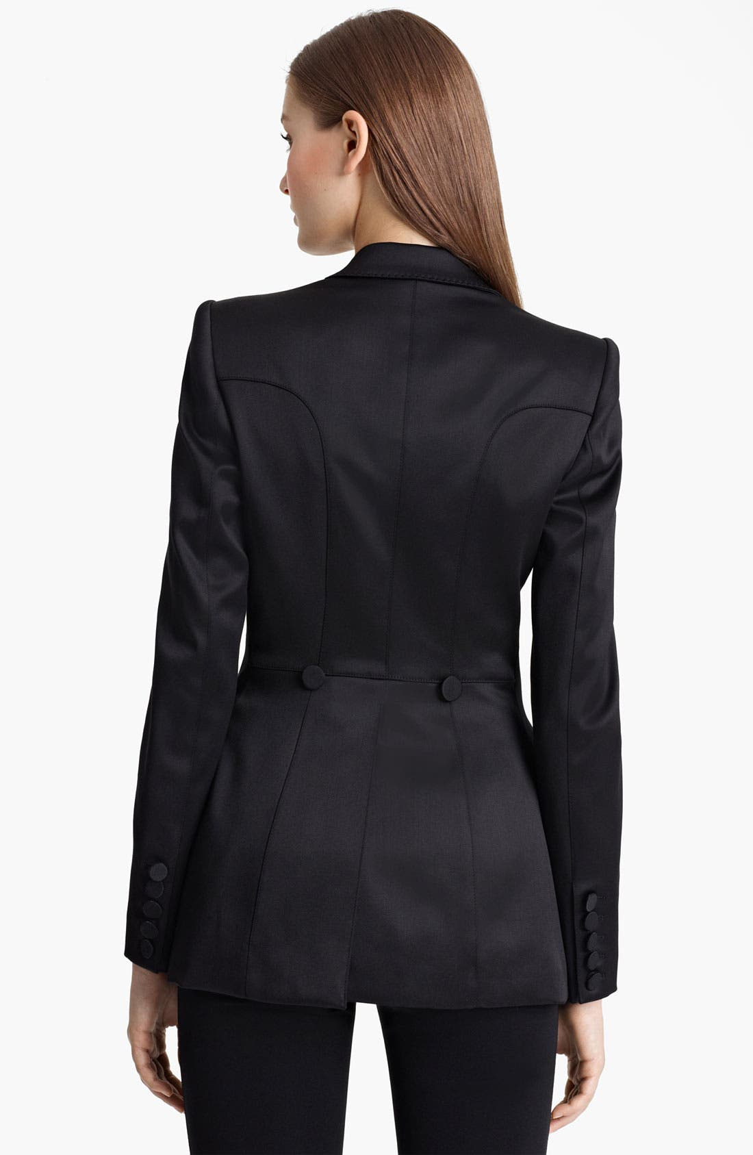 Alternate Image 2  - Burberry London Satin Tuxedo Jacket