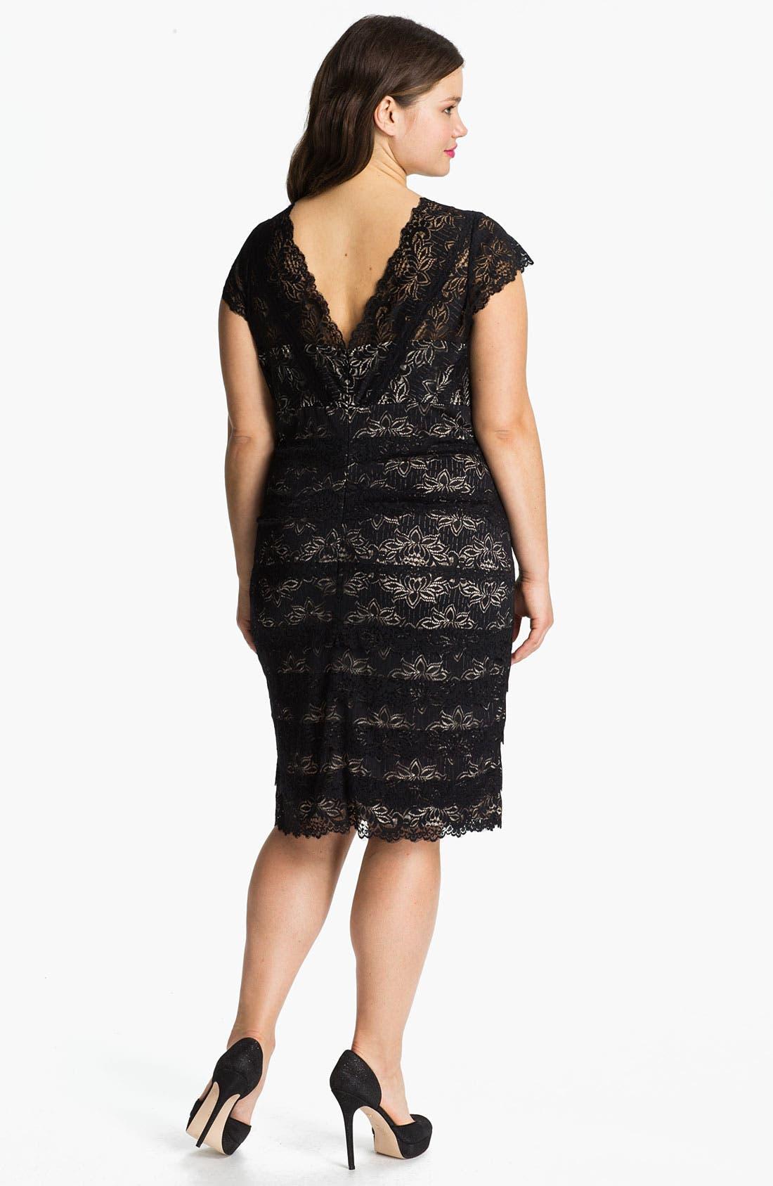Alternate Image 2  - JS Collections Layered Lace Sheath Dress (Plus)