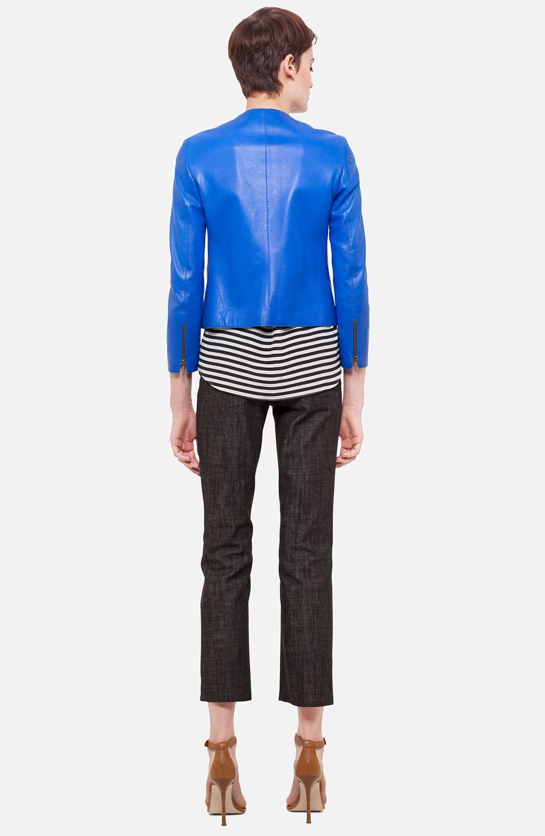 Alternate Image 3  - Akris punto Nappa Leather Jacket