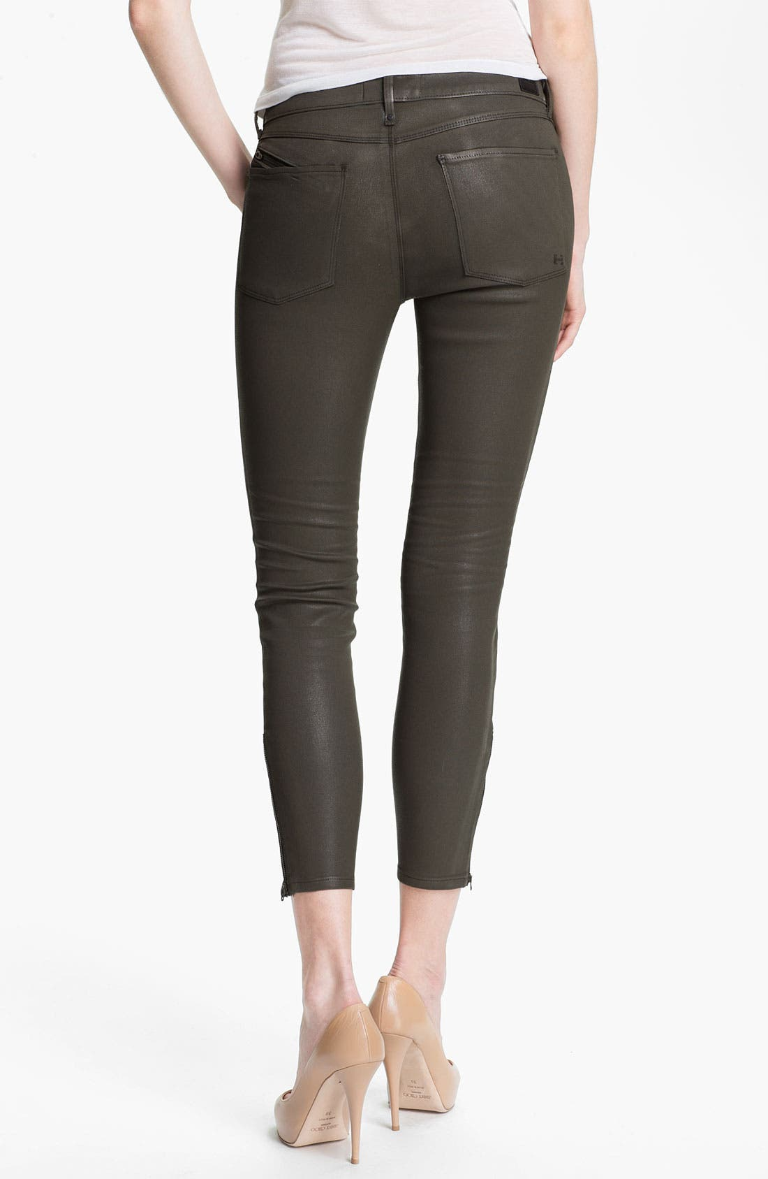 Alternate Image 2  - Habitual 'Colette' Coated Skinny Stretch Jeans