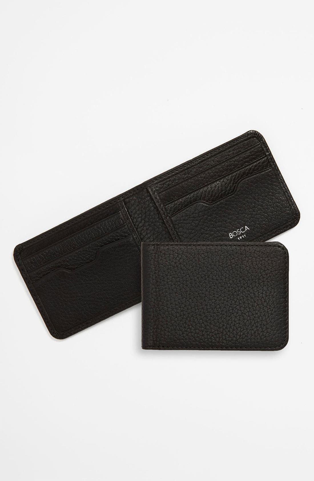 Main Image - Bosca Small Leather Bifold Wallet