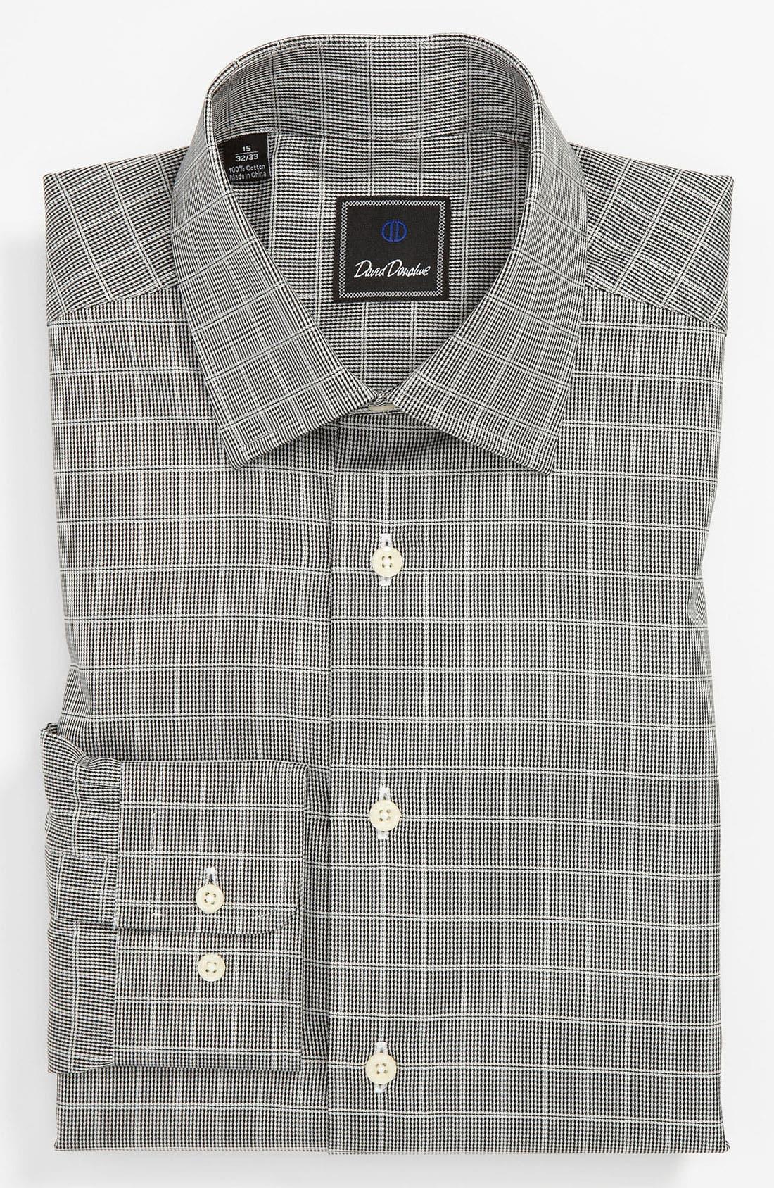 Alternate Image 1 Selected - David Donahue Regular Fit Dress Shirt (Online Exclusive)