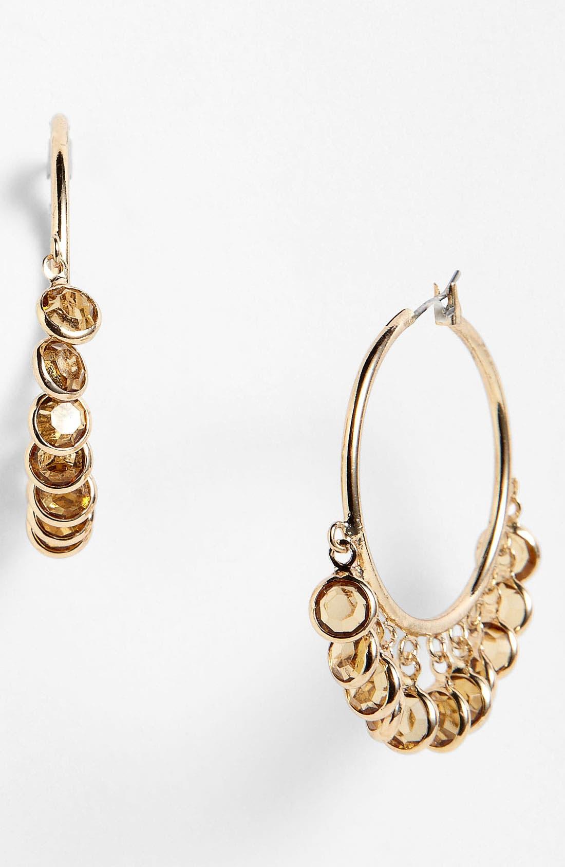 Alternate Image 1 Selected - Anne Klein 'Beacon' Hoop Earrings