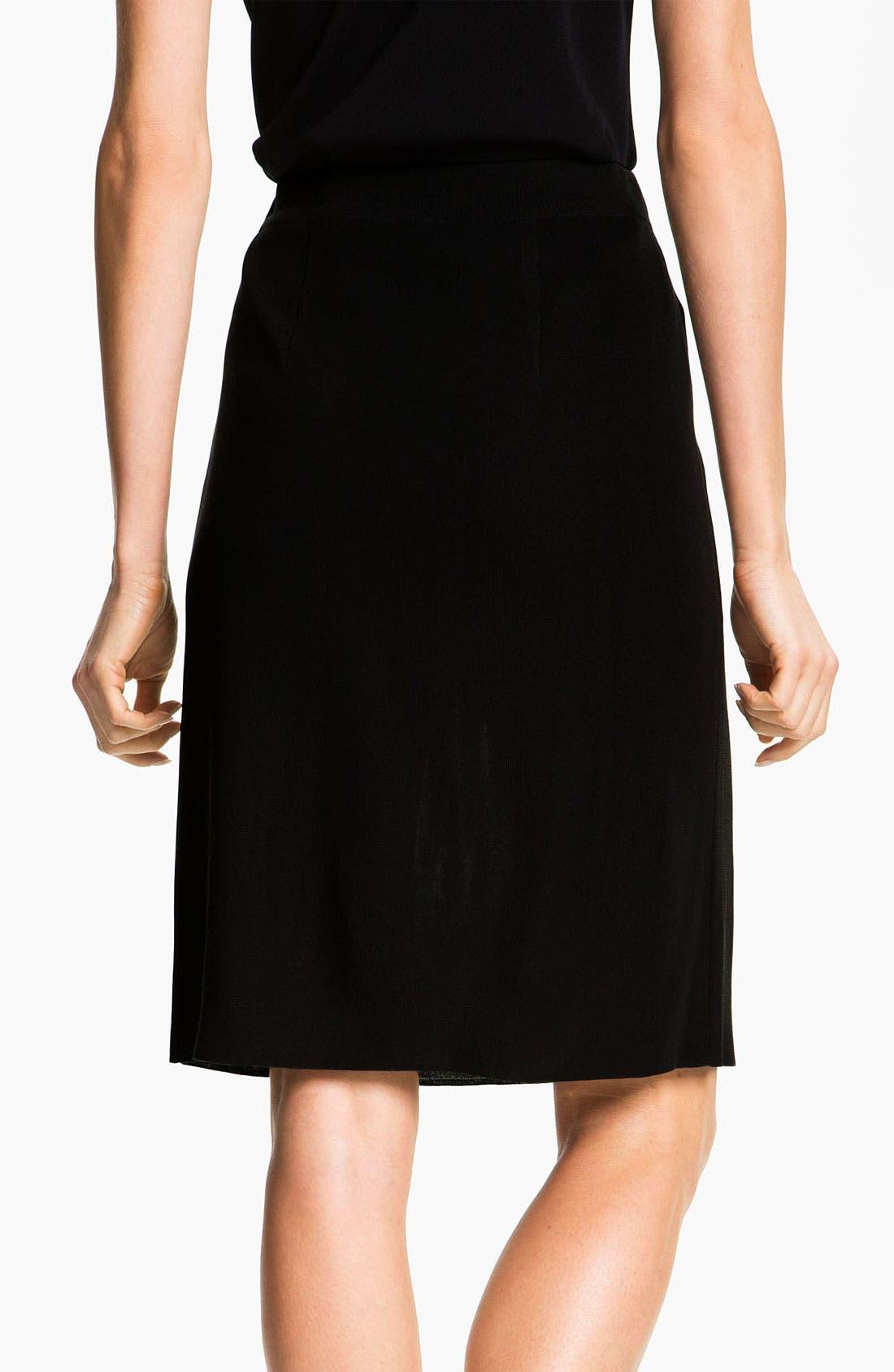 Alternate Image 2  - Misook Pull-On Skirt (Petite) (Online Only)