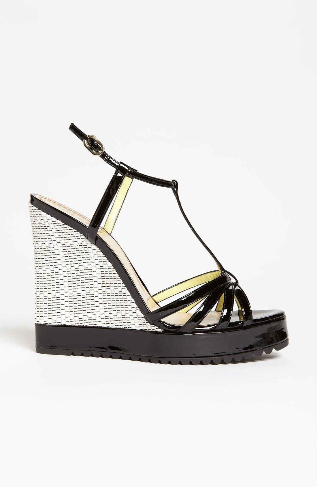 Alternate Image 4  - Pollini Woven Wedge Sandal