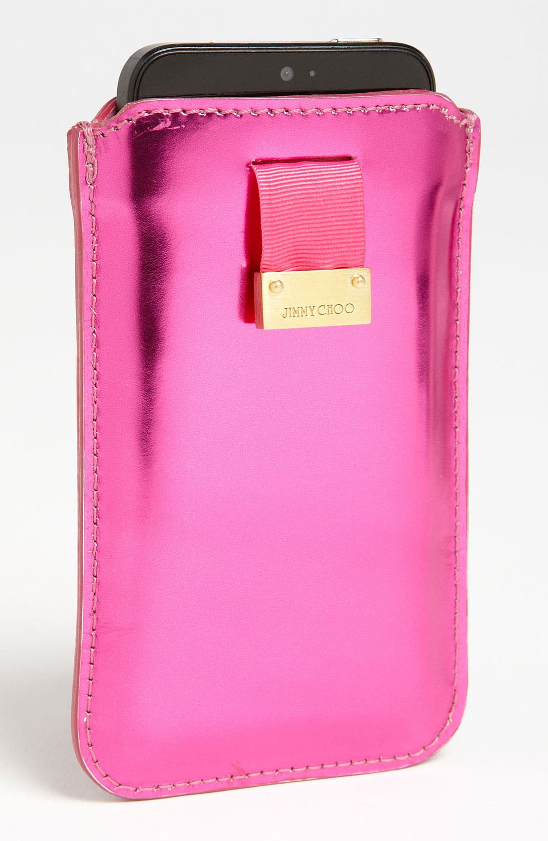 Main Image - Jimmy Choo 'Trent - Mirror' iPhone Case