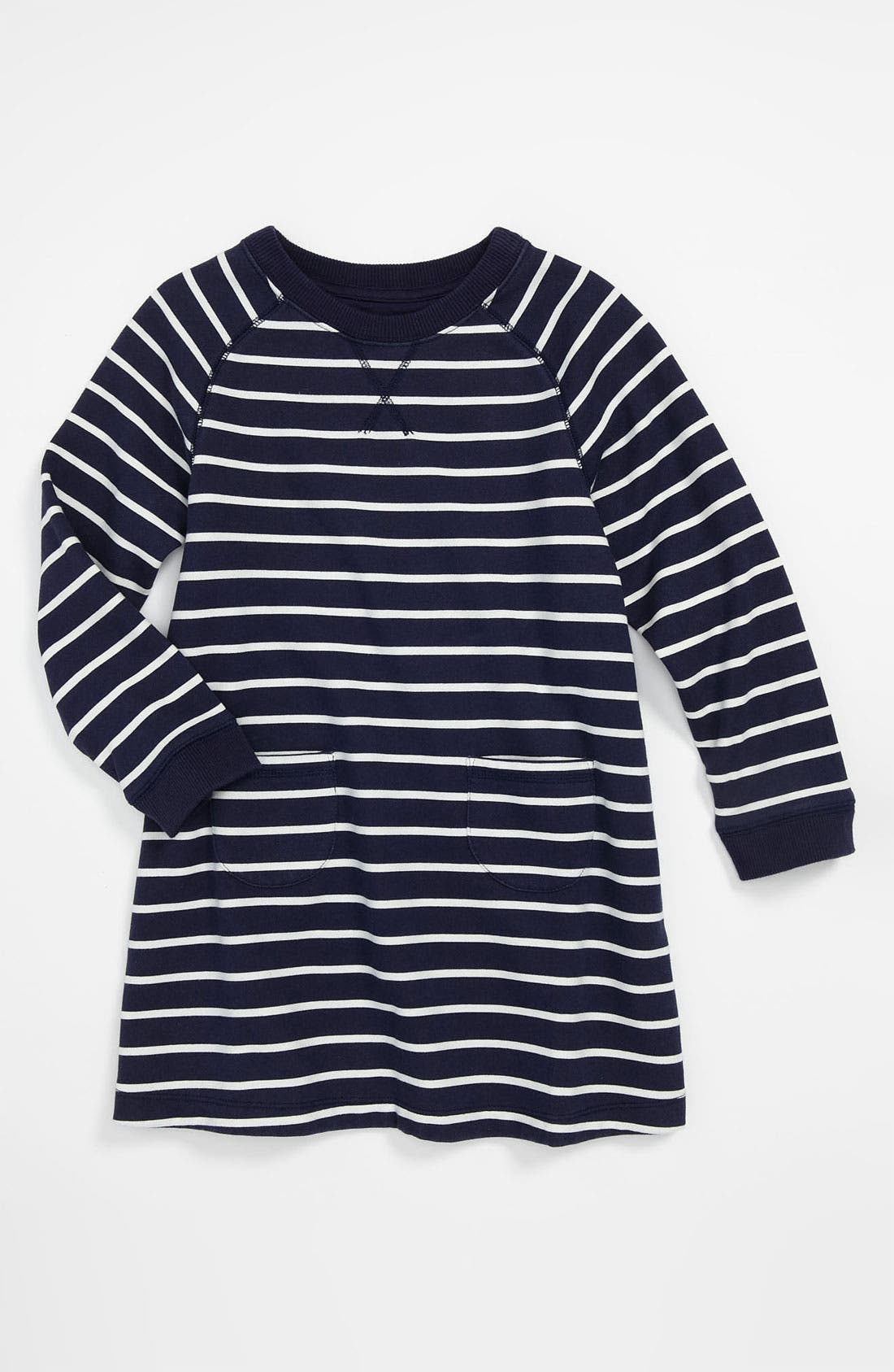Main Image - Mini Boden 'Cozy' Sweatshirt Dress (Little Girls & Big Girls)