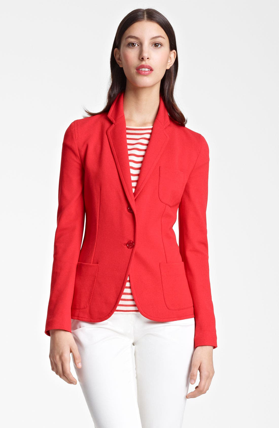 Alternate Image 2  - Armani Collezioni Two Button Jersey Jacket