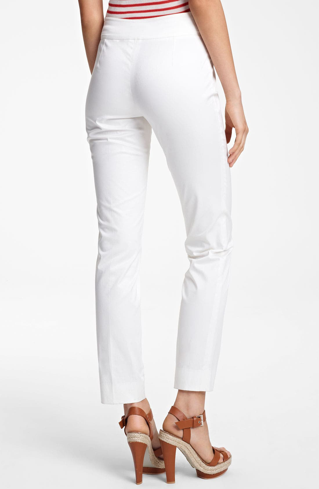 Alternate Image 2  - Armani Collezioni Slim Stretch Cotton Pants