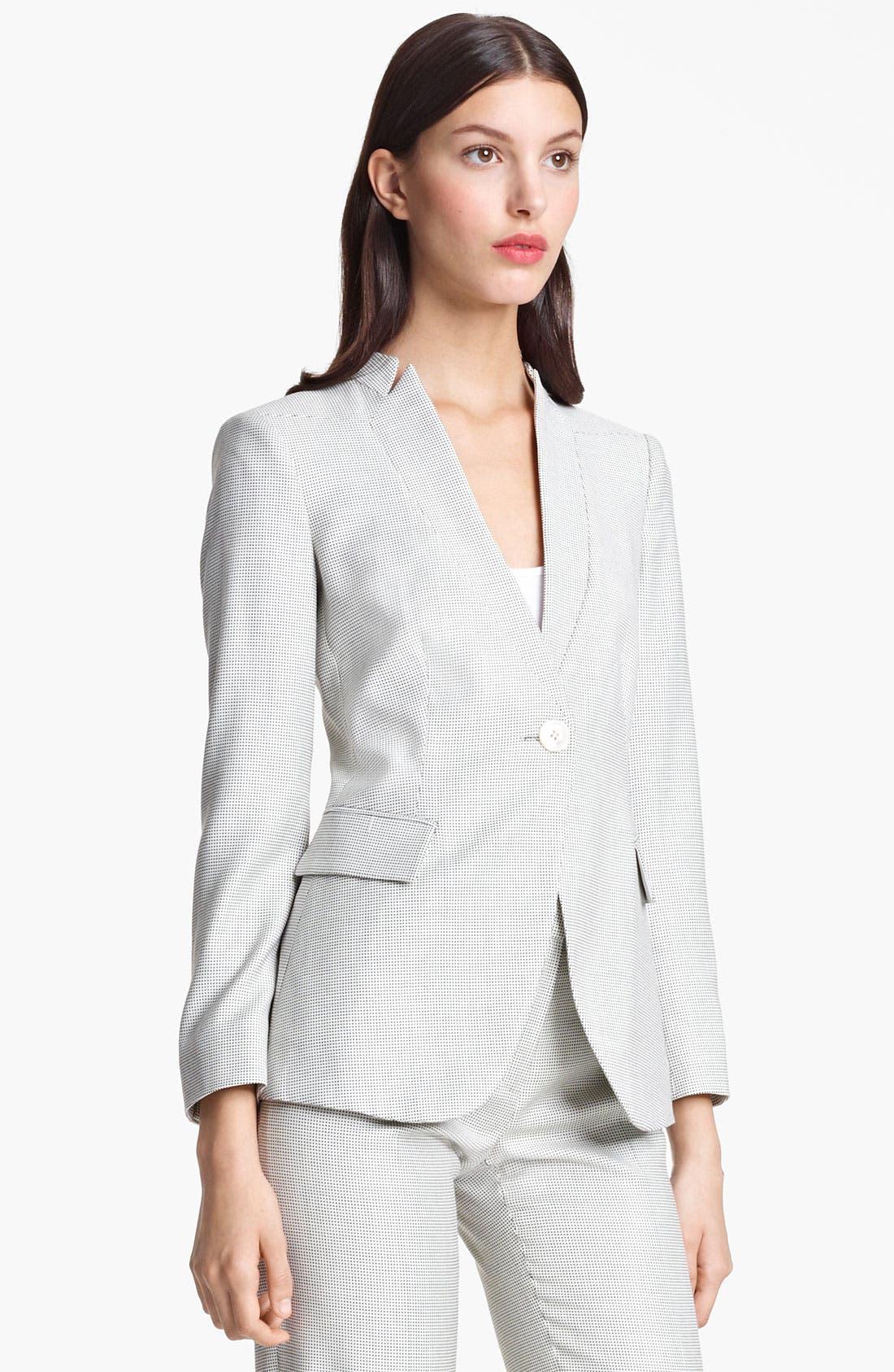 Alternate Image 2  - Armani Collezioni One Button Jacket