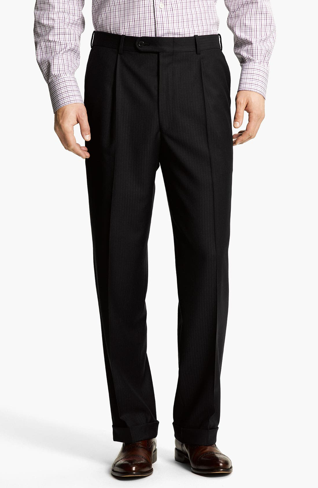 Alternate Image 4  - Peter Millar Stripe Wool Suit