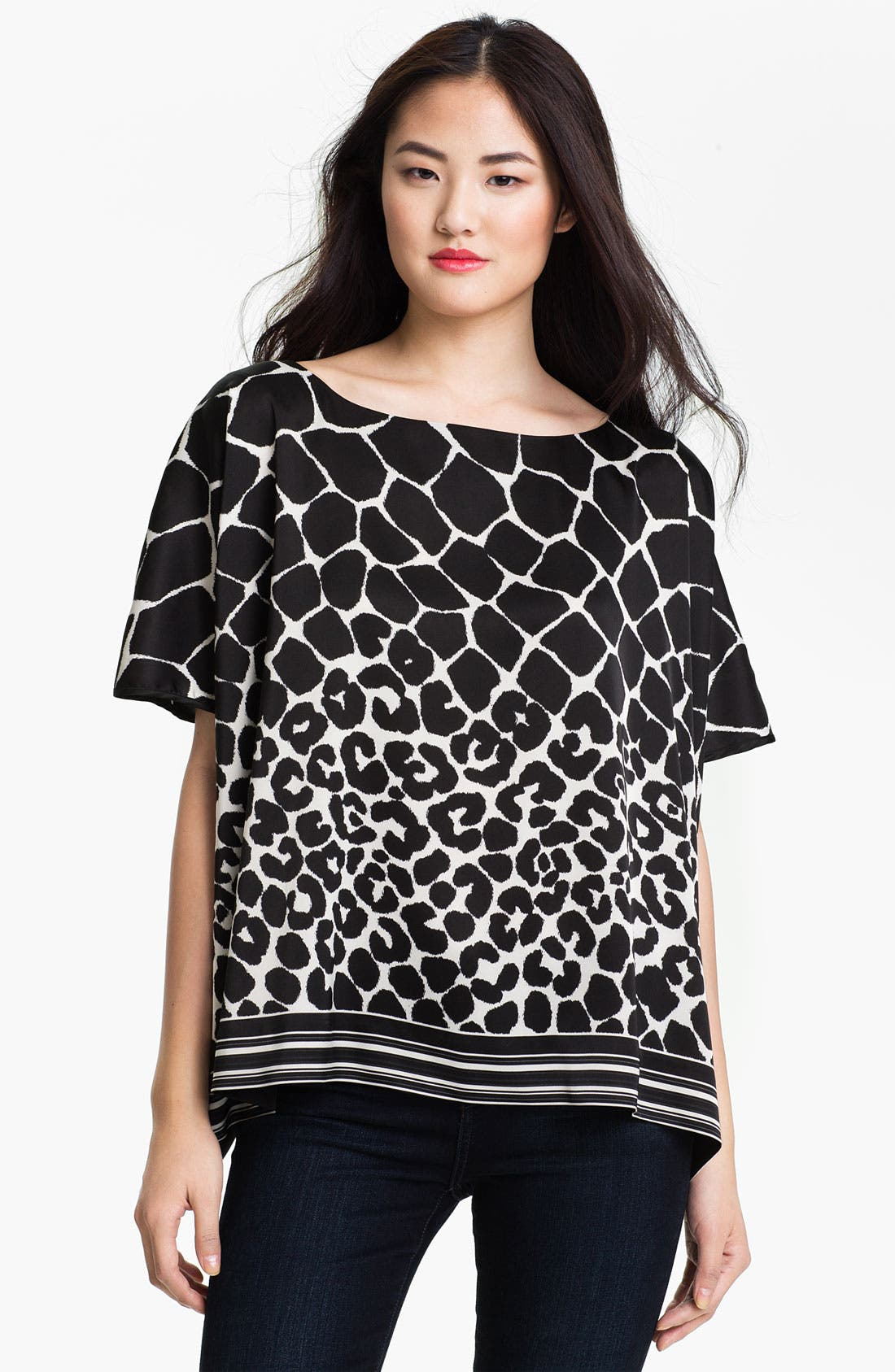 Alternate Image 1 Selected - Vince Camuto Animal Print Blouse