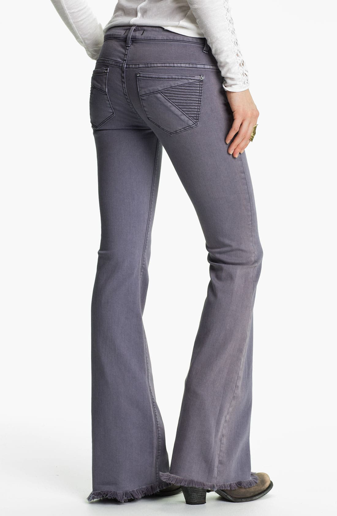 Alternate Image 2  - Free People 'Millennium' Colored Denim Bootcut Jeans (Violet)