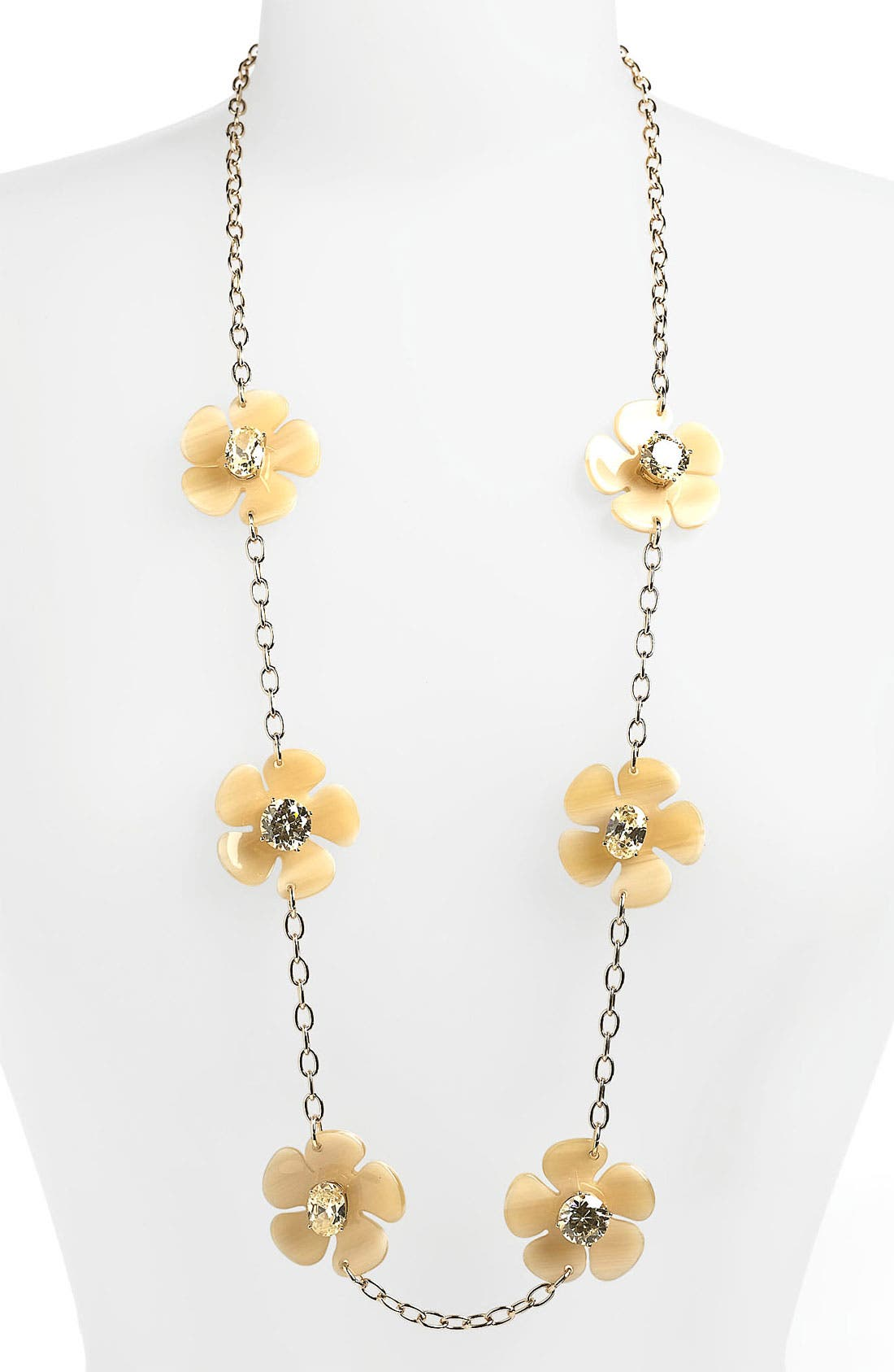 Main Image - Tory Burch 'Flora' Long Station Necklace