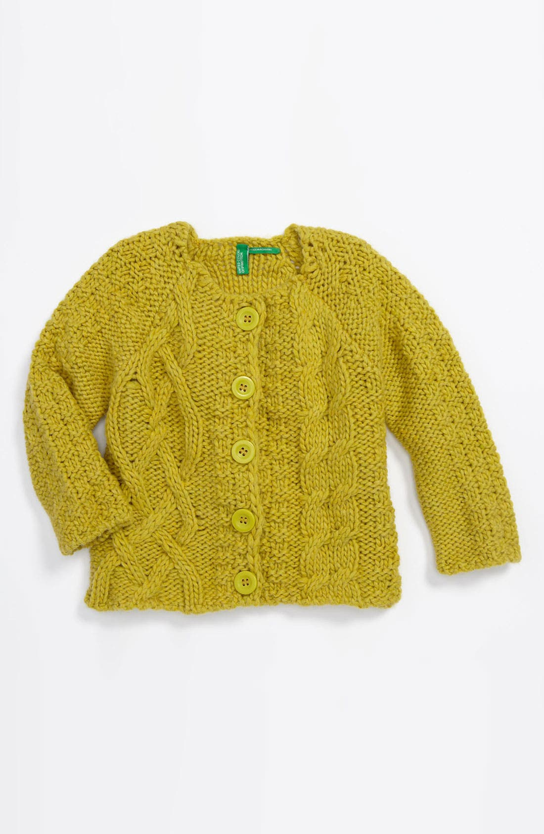 Main Image - United Colors of Benetton Kids Cable Knit Sweater (Infant)
