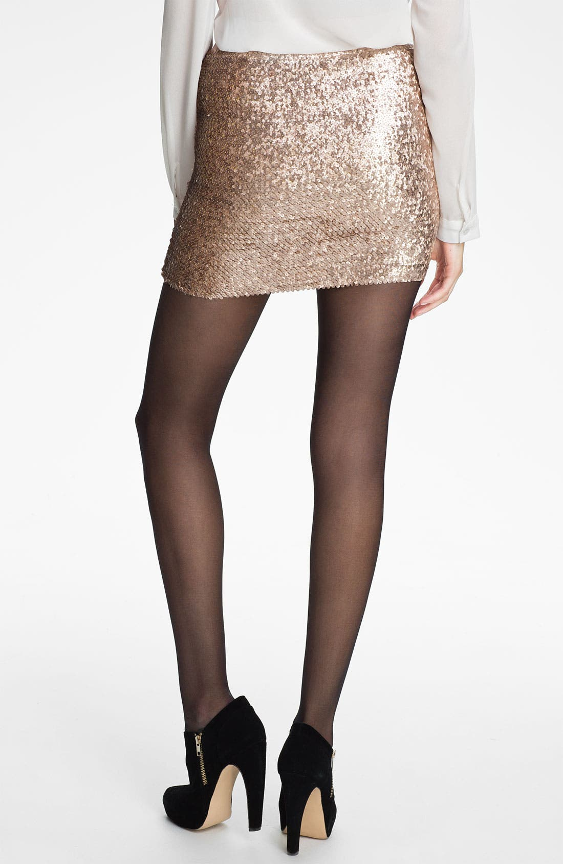 Alternate Image 2  - Lily White Sequin Miniskirt (Juniors)