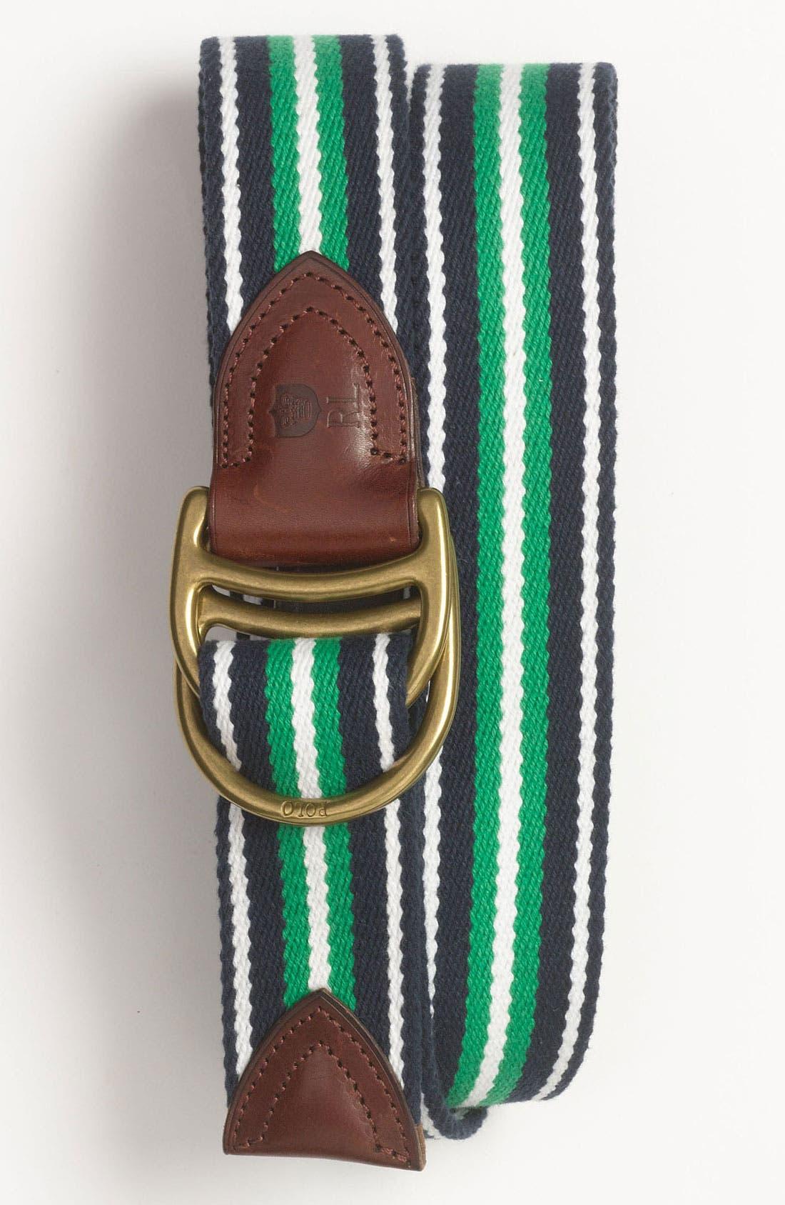 Alternate Image 1 Selected - Polo Ralph Lauren Woven Belt
