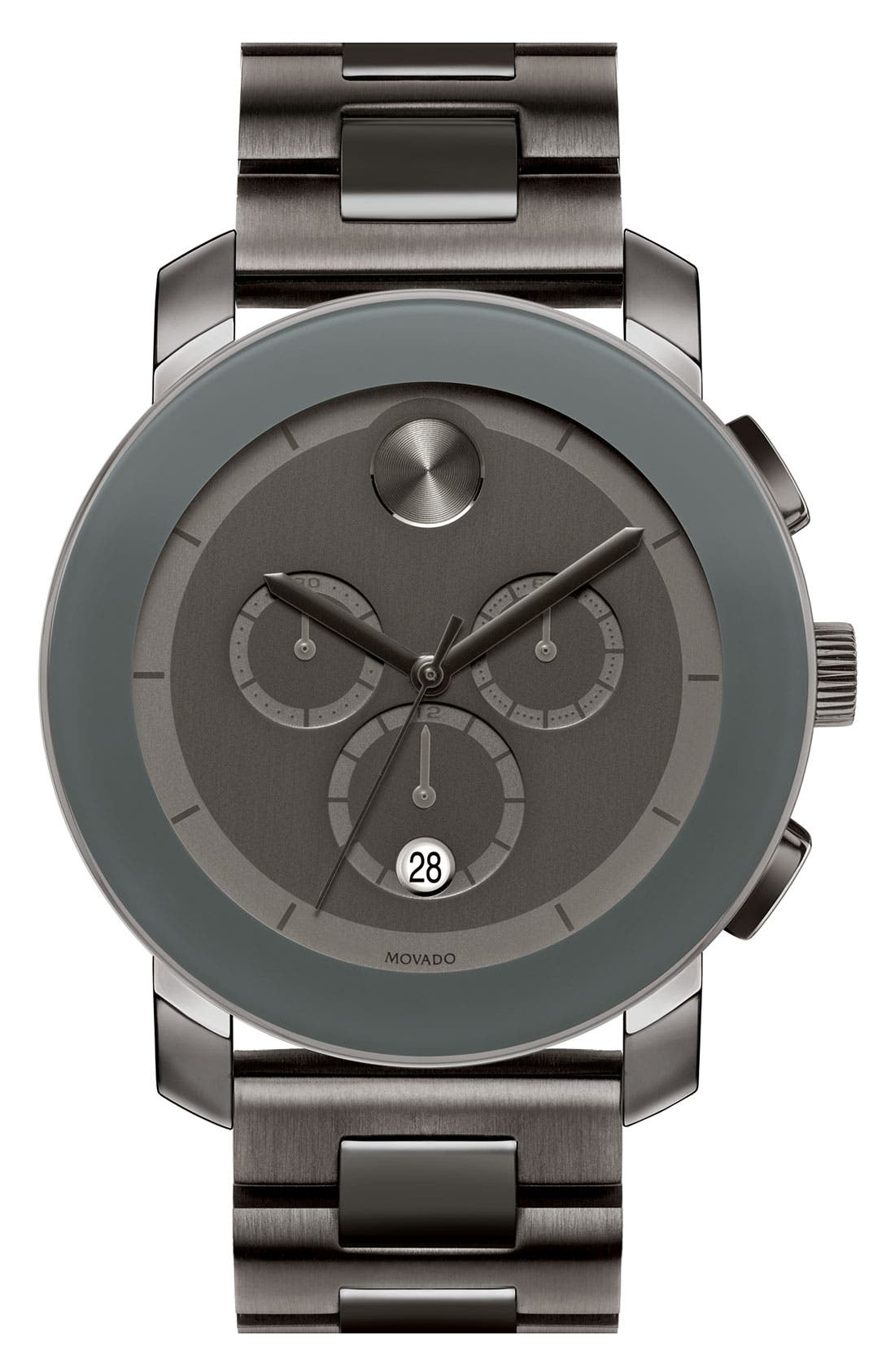 Main Image - Movado 'Large Bold Chronograph' Bracelet Watch, 43mm