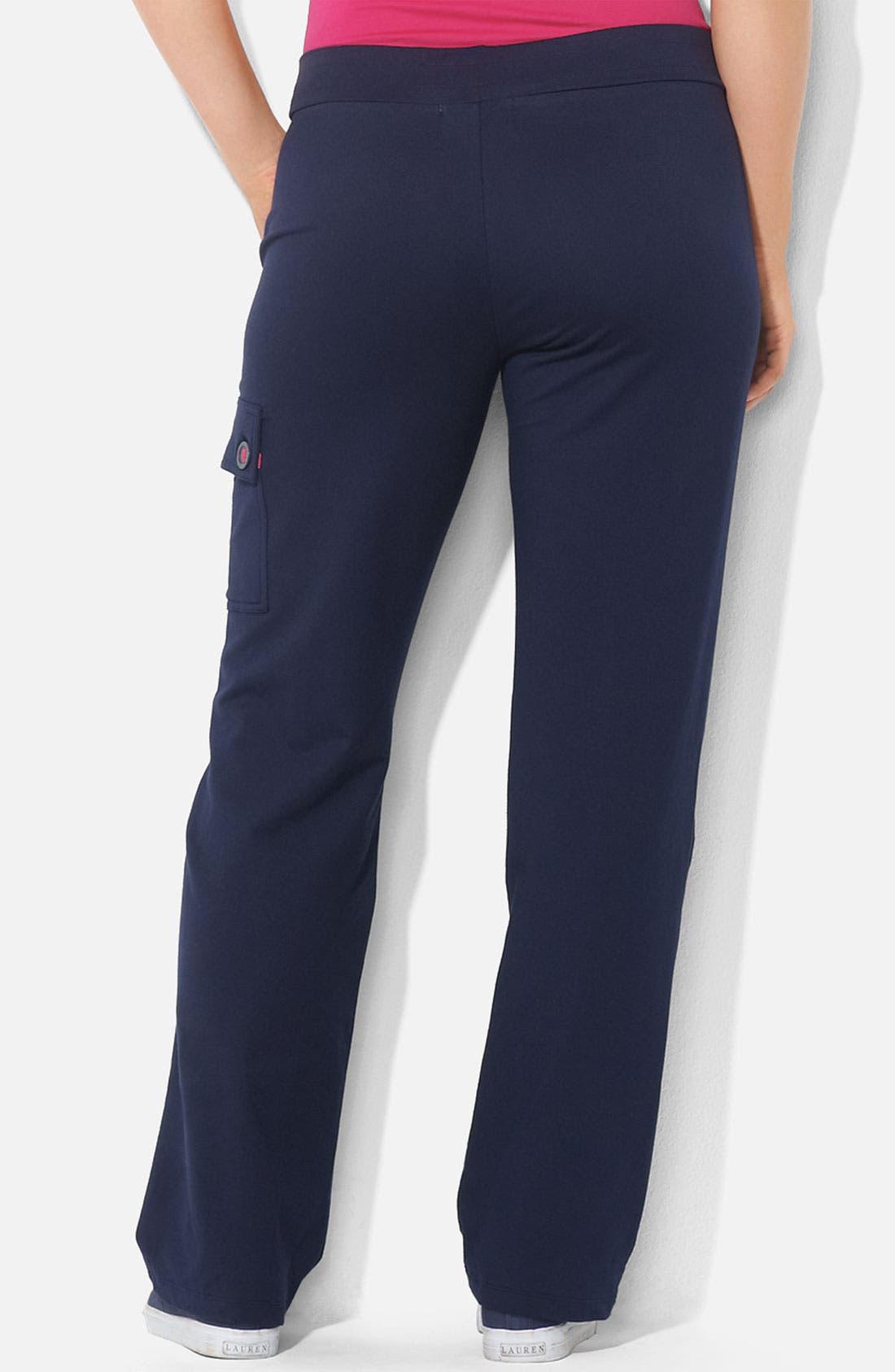 Alternate Image 2  - Lauren Ralph Lauren Knit Cargo Pants (Plus)