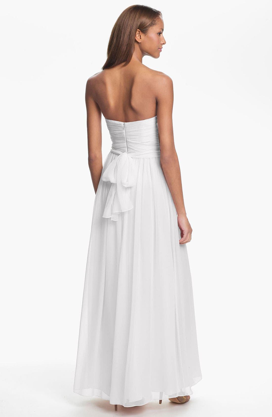 Alternate Image 2  - Jill Jill Stuart Strapless Ruched Chiffon Sweetheart Gown