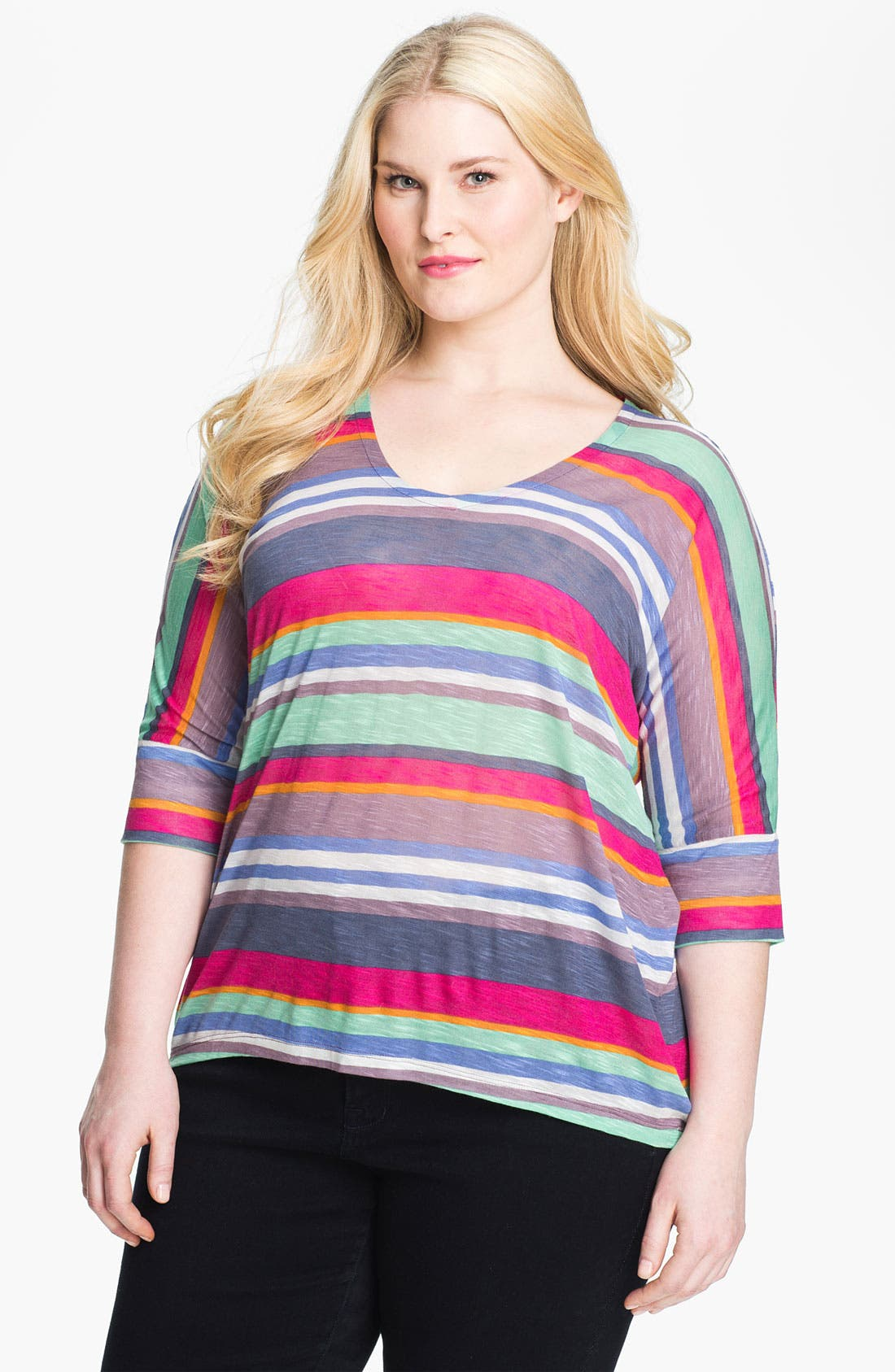 Alternate Image 1 Selected - Splendid 'Pensacola' Stripe Tee (Plus)