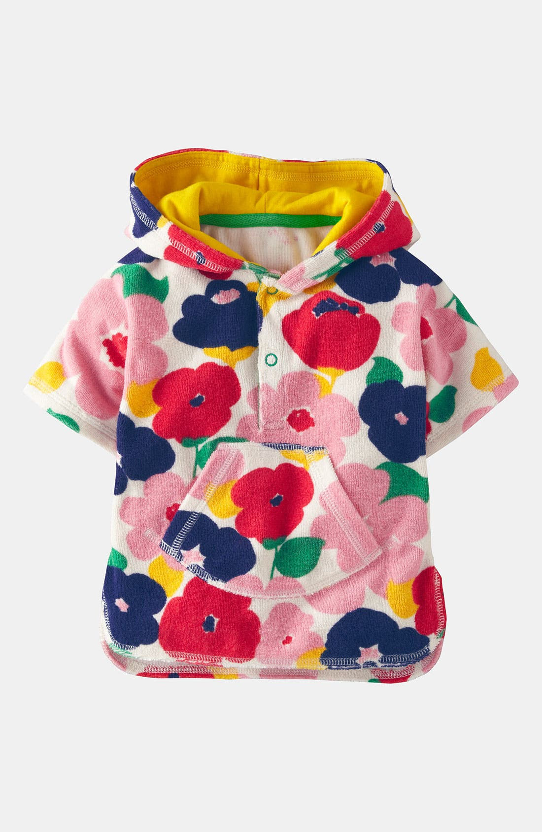 Main Image - Mini Boden Terry Cloth Poncho (Baby)