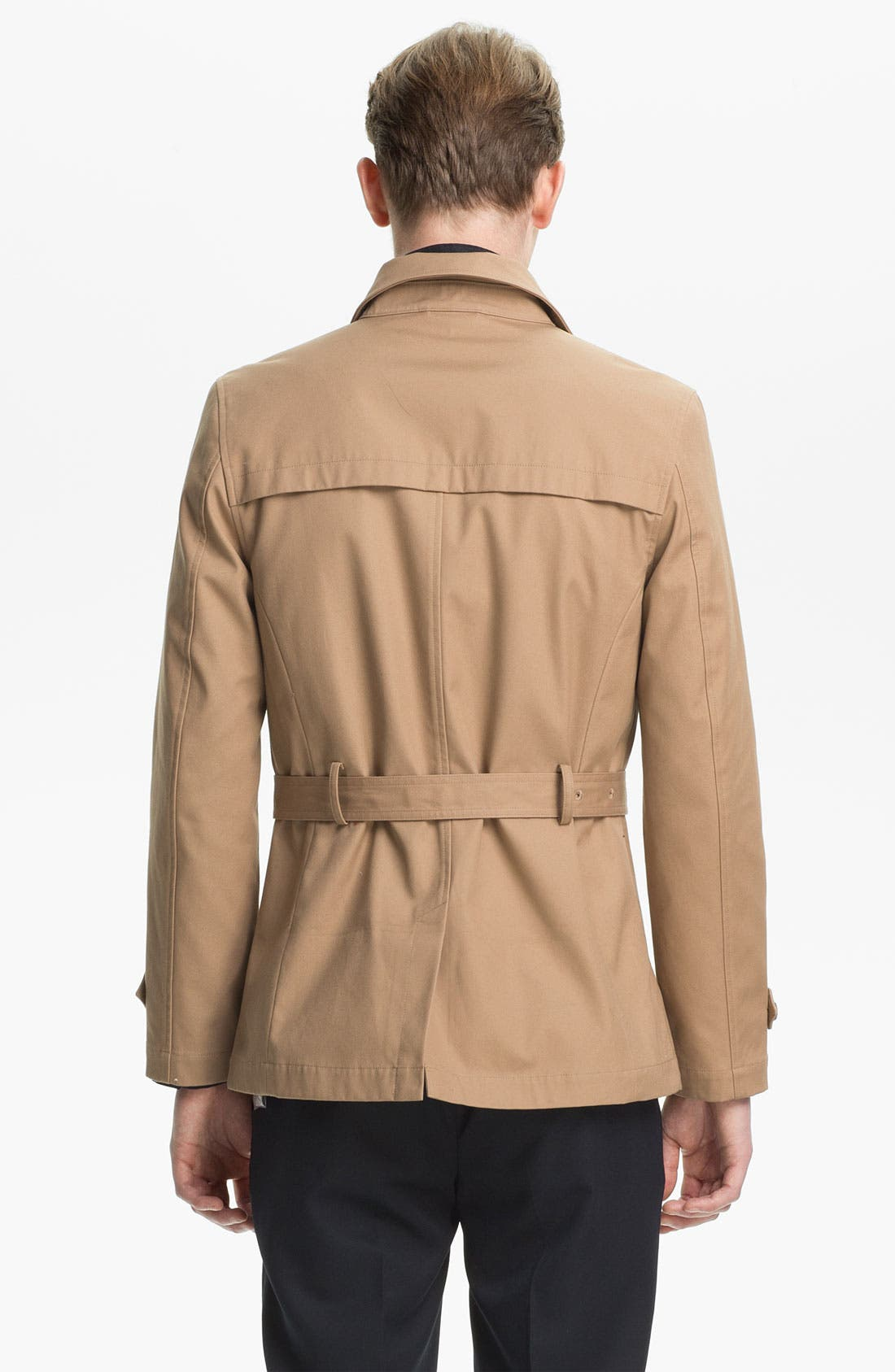 Alternate Image 2  - Topman Double Breasted Mac Jacket