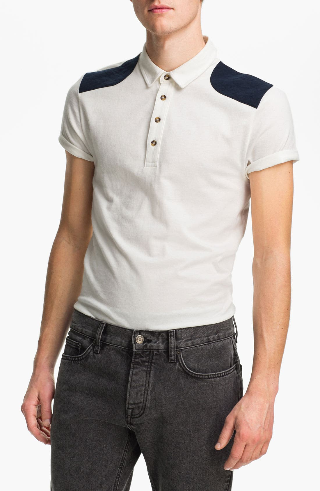 Alternate Image 1 Selected - Topman Quilted Patch Polo
