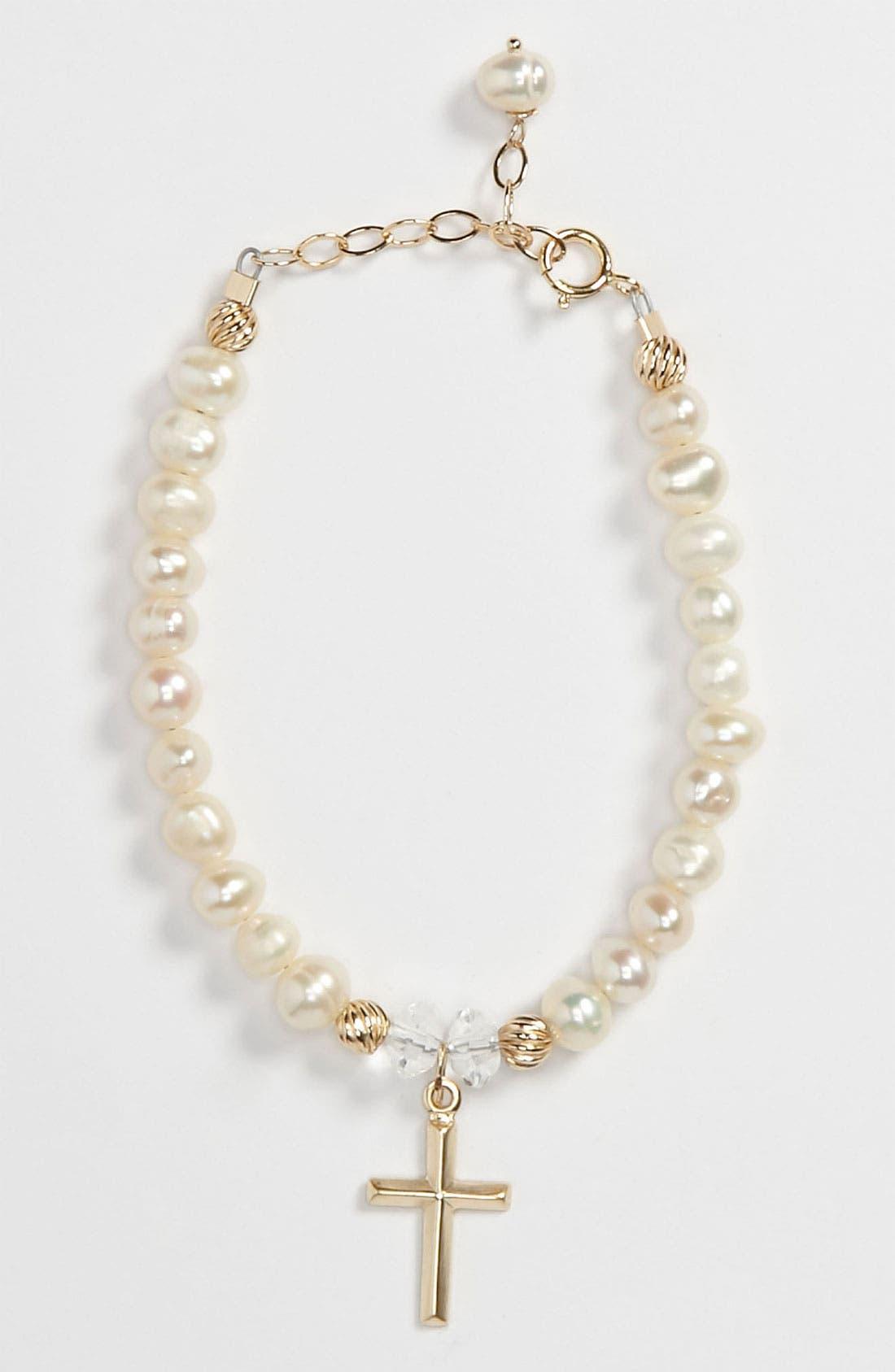 Alternate Image 1 Selected - Abela Designs Freshwater Pearl Bracelet (Girls)