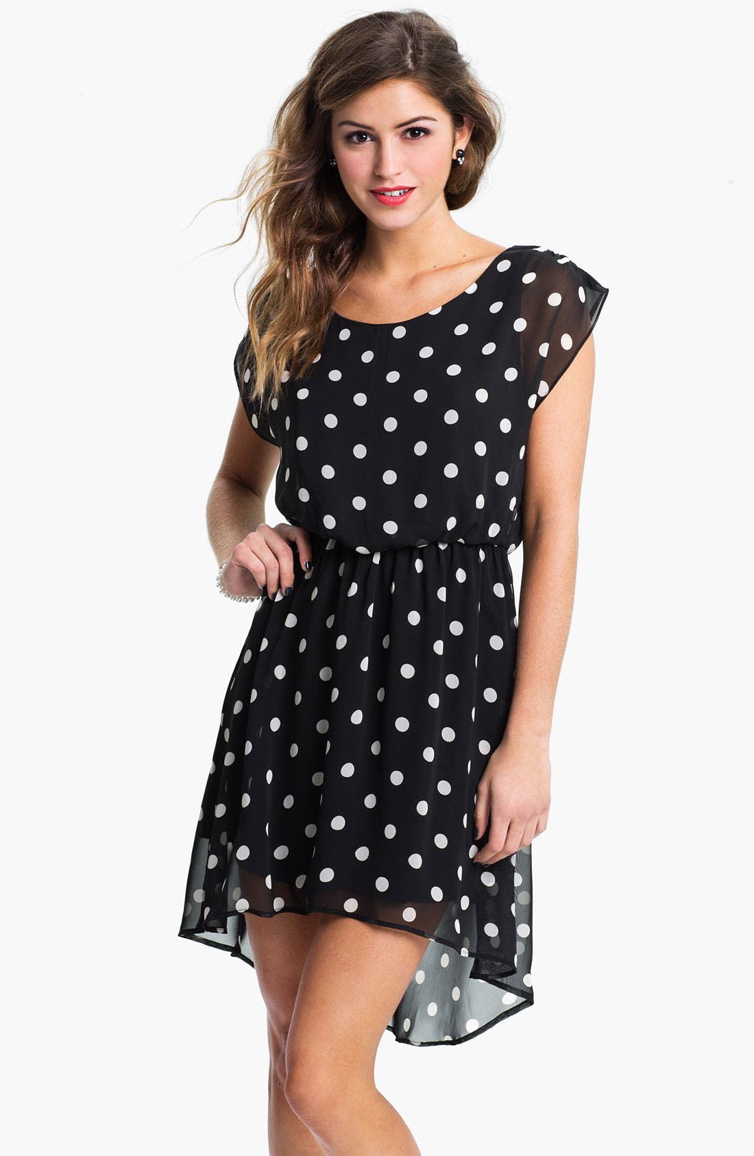 Main Image - Lush 'Dakota' Chiffon Dress (Juniors)