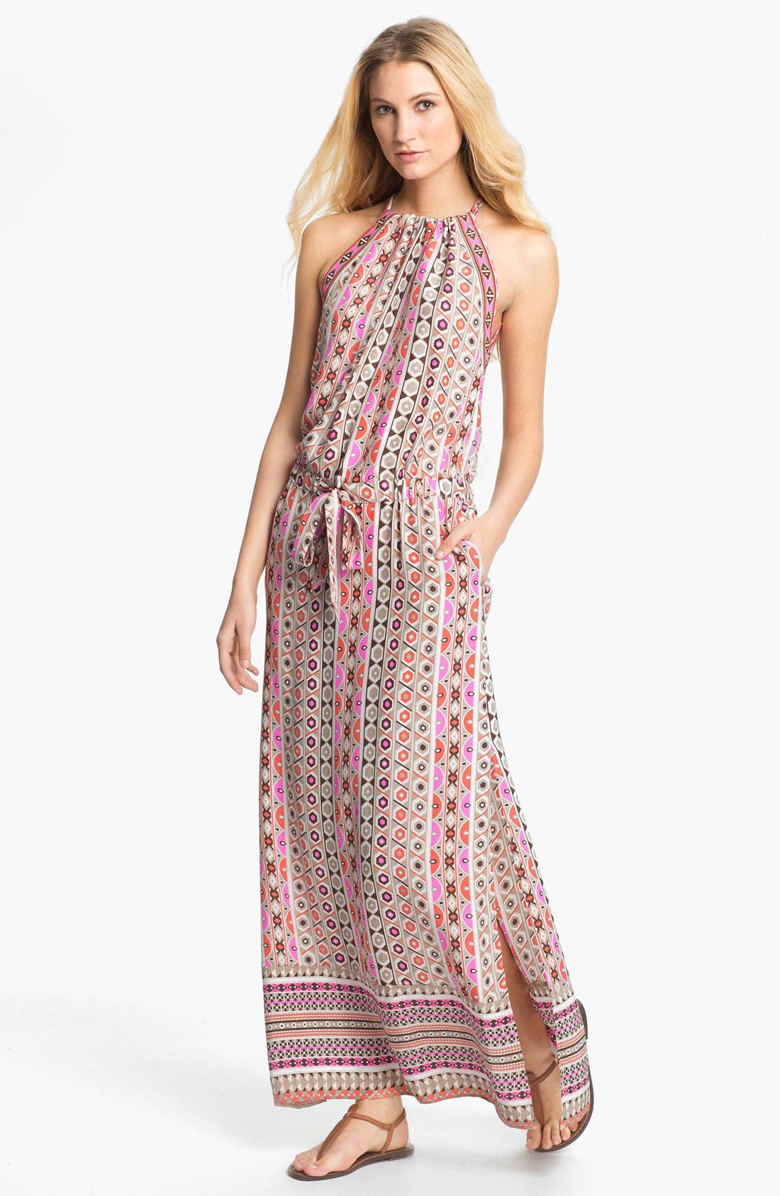 Main Image - ALICE & TRIXIE 'Jullian' Print Silk Blouson Maxi Dress