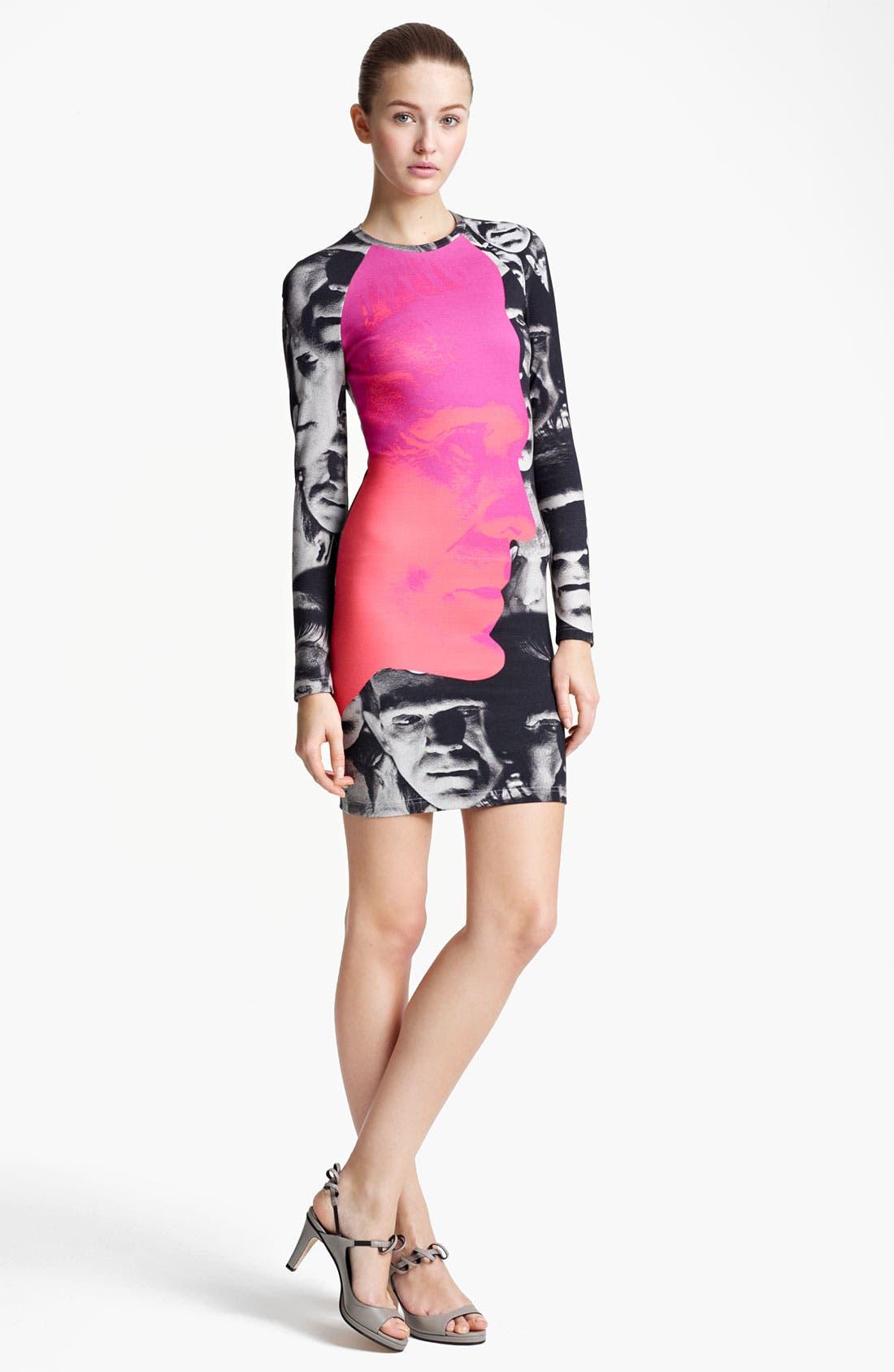 Alternate Image 1 Selected - Christopher Kane Pink Frankenstein Print Sheath Dress