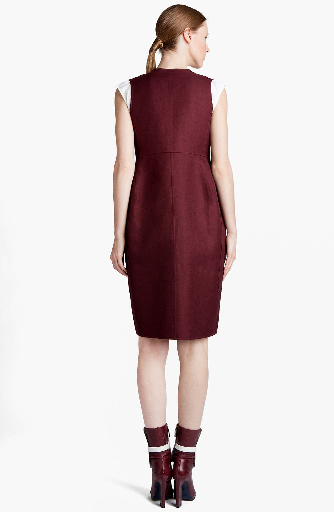 Alternate Image 2  - Jil Sander Sleeveless Gabardine Coatdress